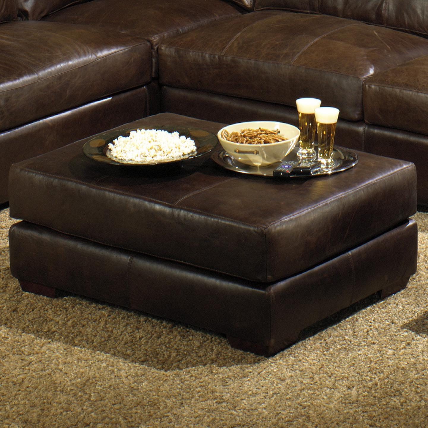 Usa premium leather 3635 rectangular cocktail ottoman for Cocktail usa