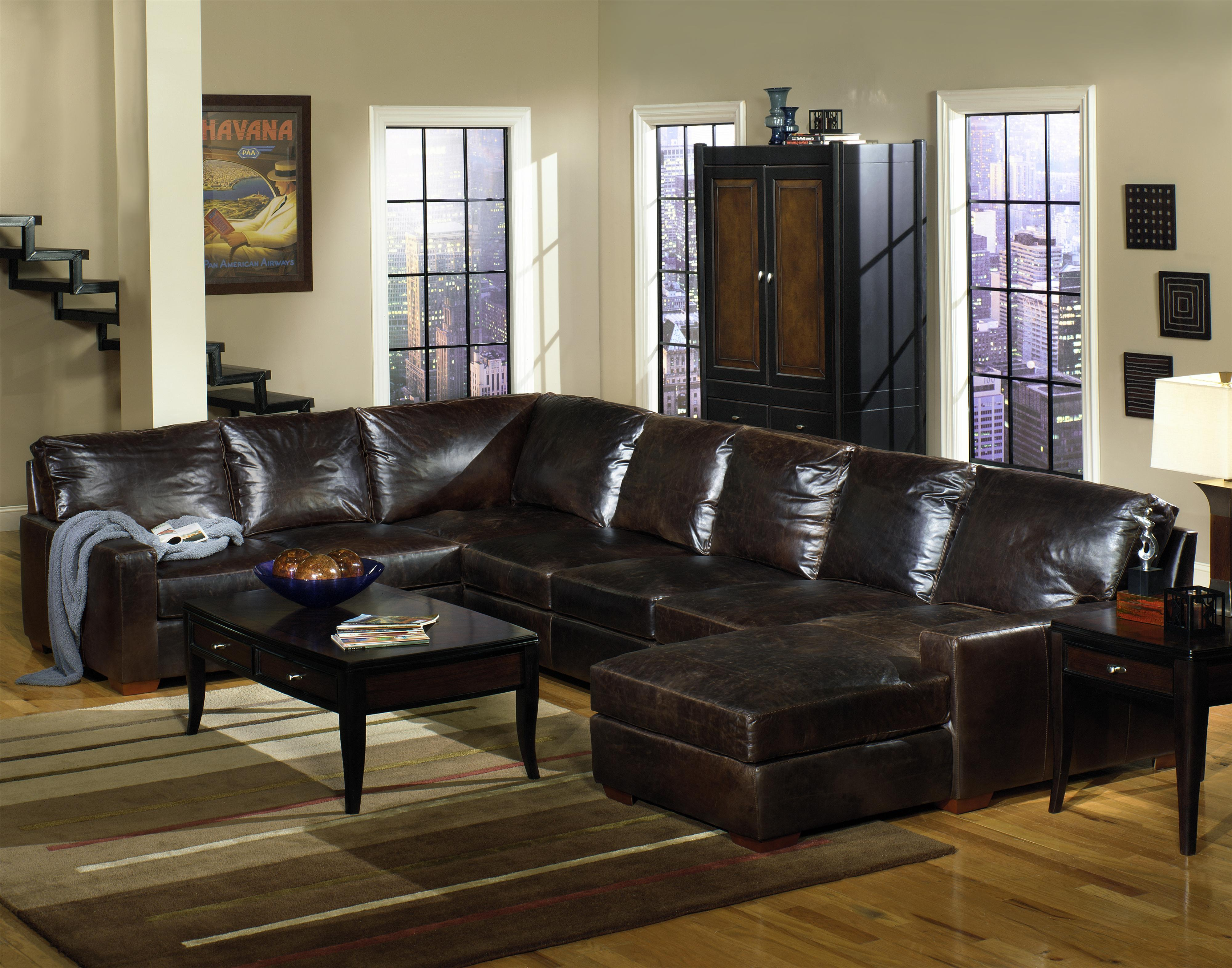 usa premium leather 9935 track arm sofa chaise sectional olinde 39 s furniture sofa sectional. Black Bedroom Furniture Sets. Home Design Ideas
