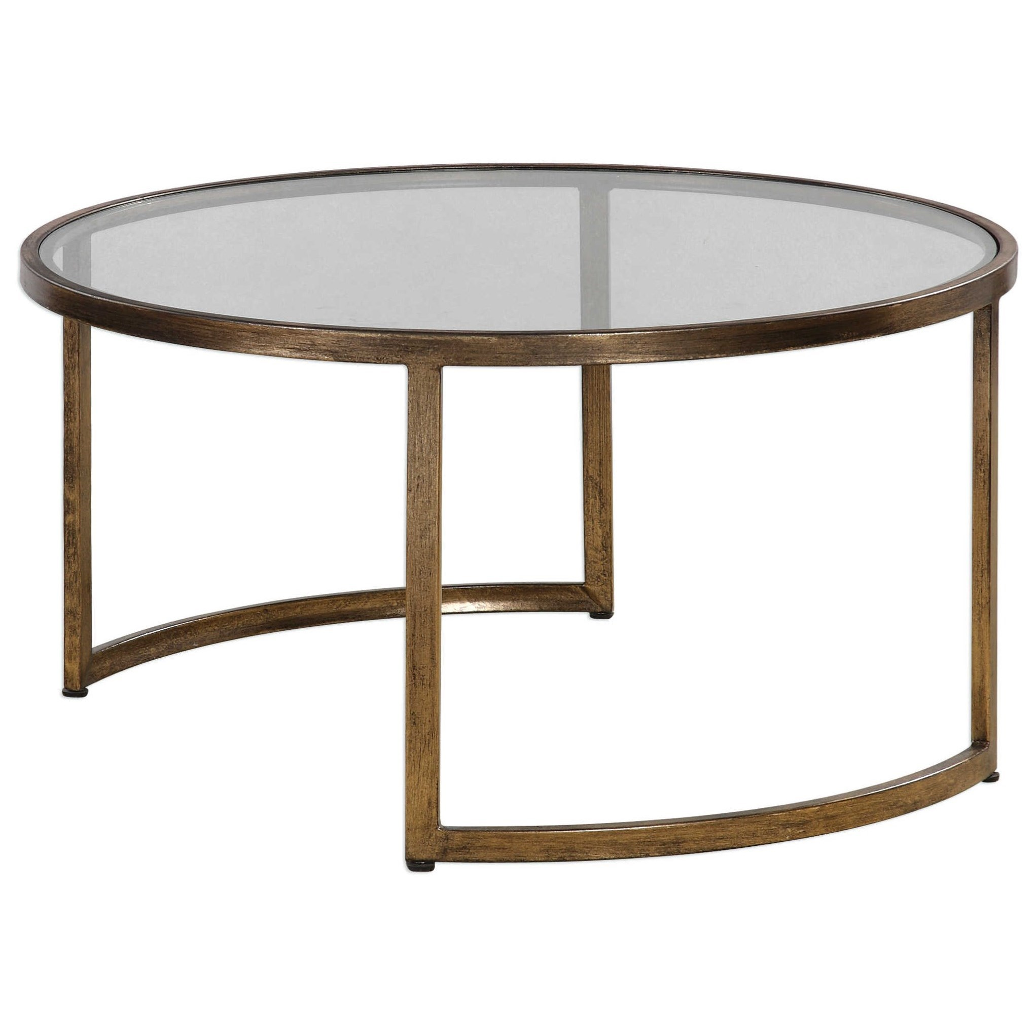 Uttermost accent furniture 24747 rhea nested coffee tables for Bright colored side tables