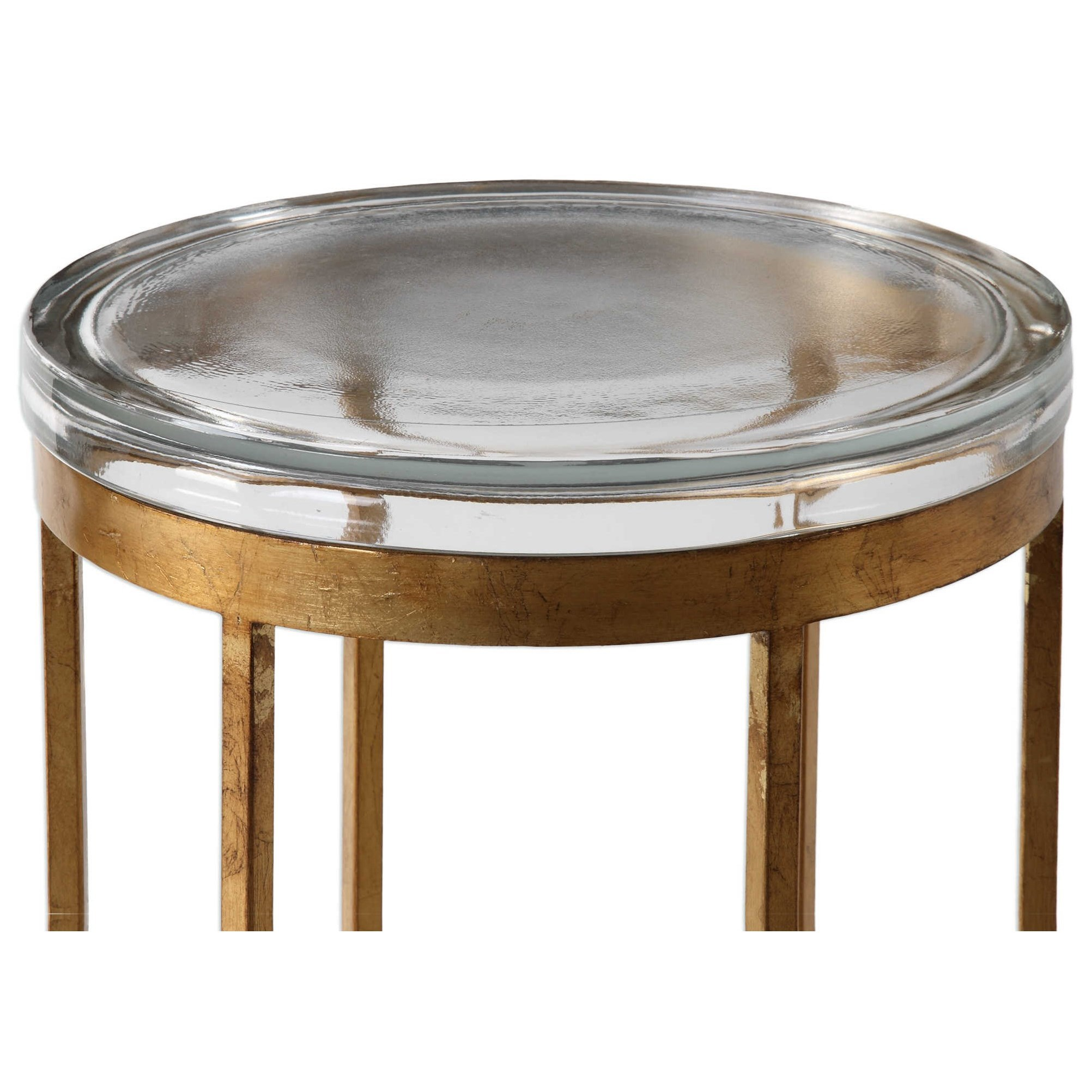 Uttermost accent furniture 24776 allura gold accent table for Bright colored side tables