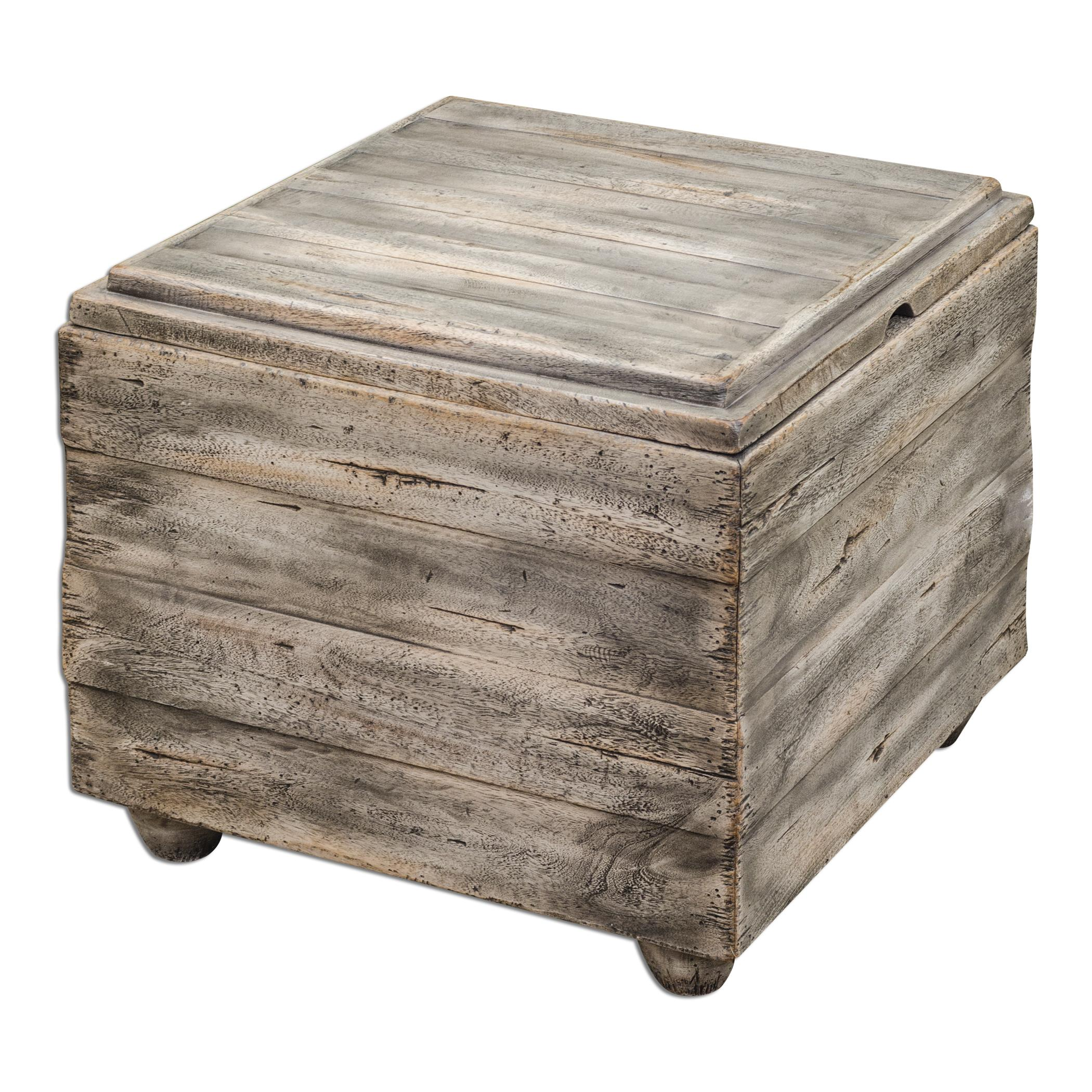 Uttermost accent furniture 25603 avner wooden cube table Wooden cube furniture
