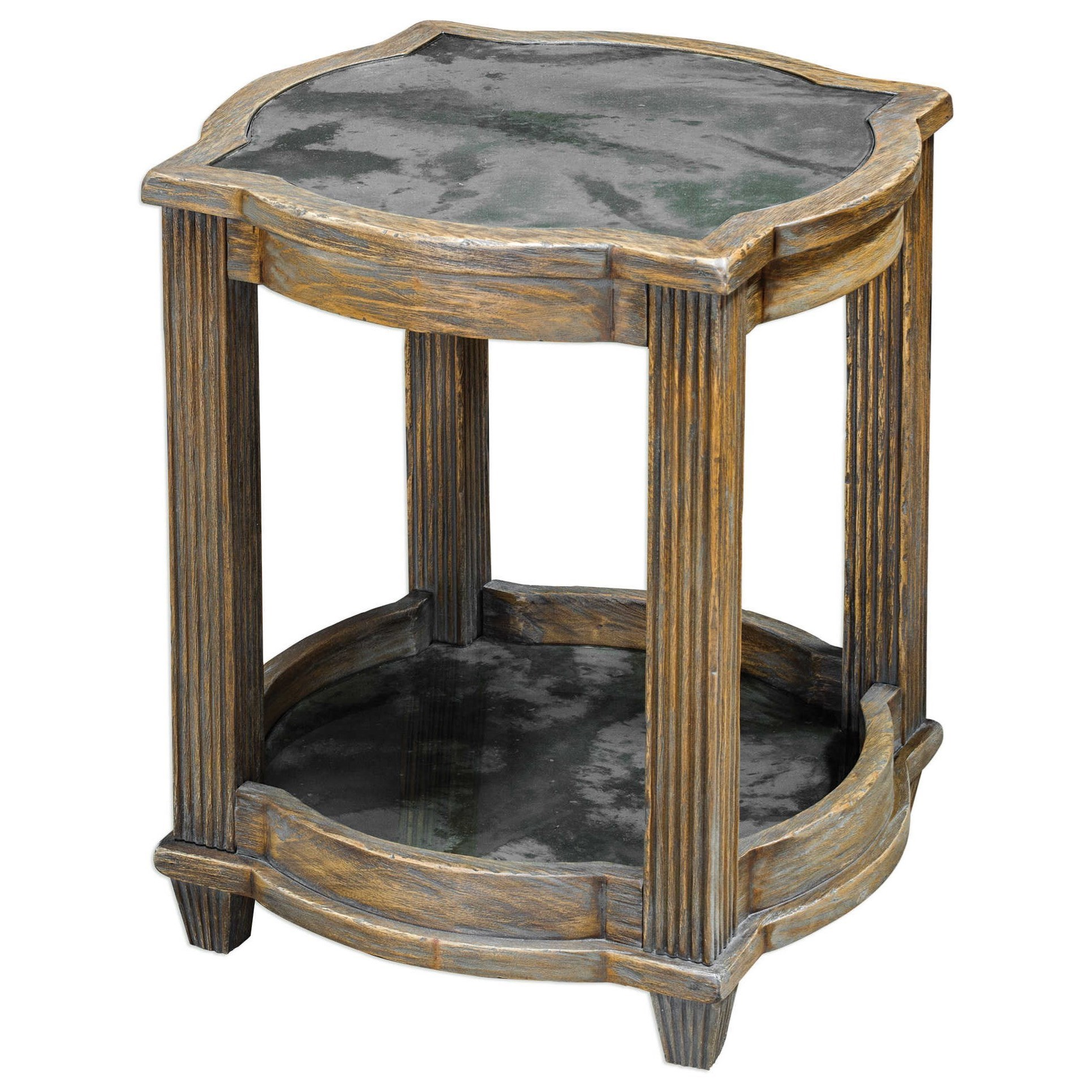 Uttermost accent furniture 25776 olani weather oak accent for Bright colored side tables