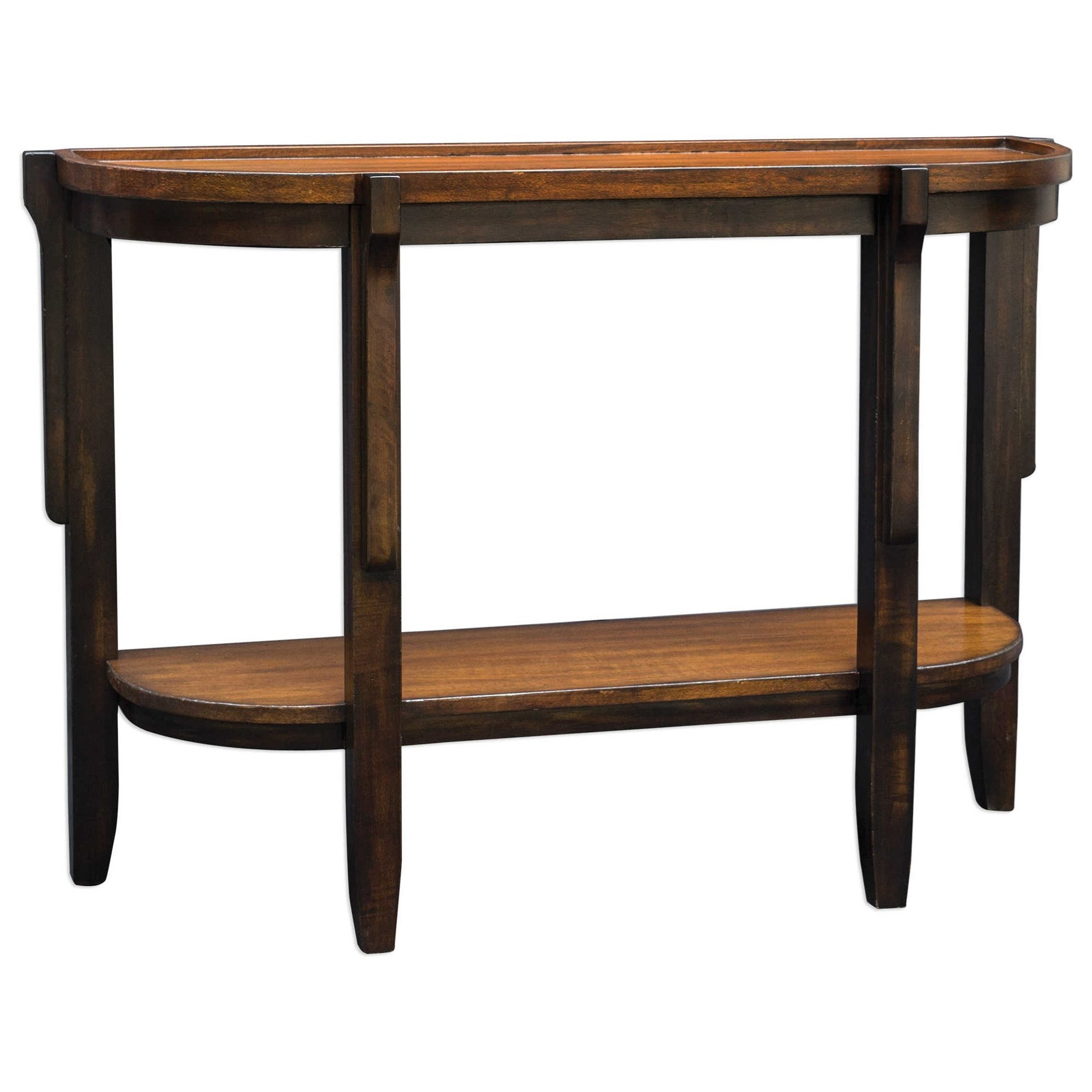 Uttermost accent furniture 25820 sigmon wooden console for Bright colored side tables