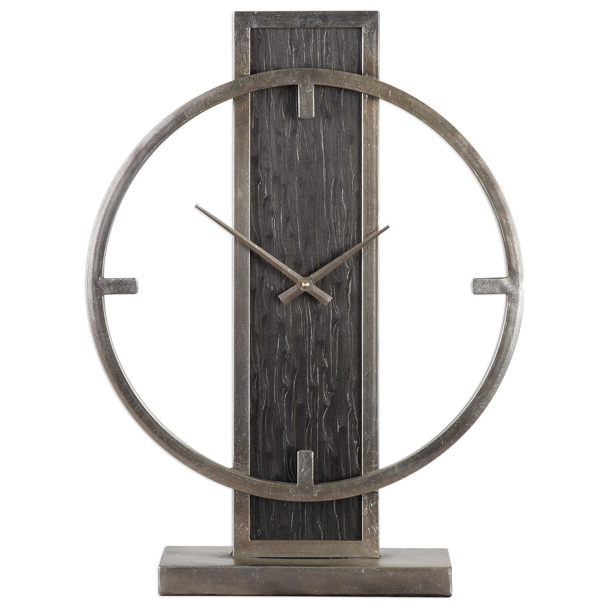 Uttermost Clocks 06443 Nico Modern Desk Clock Dunk Bright Furniture Table Clocks Mantel Clocks