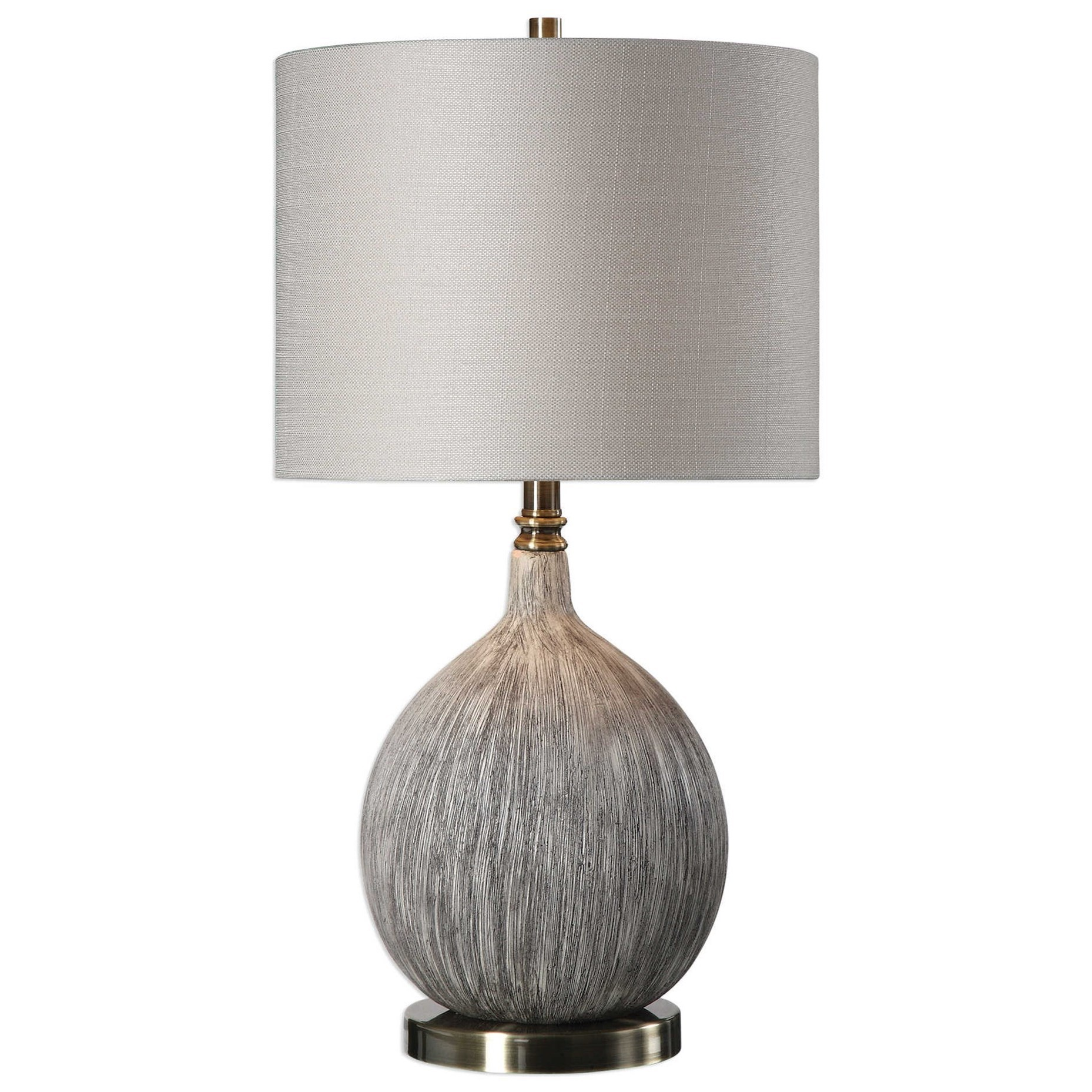 Uttermost lamps 27715 1 hedera textured ivory table lamp for Table lamp repairs melbourne