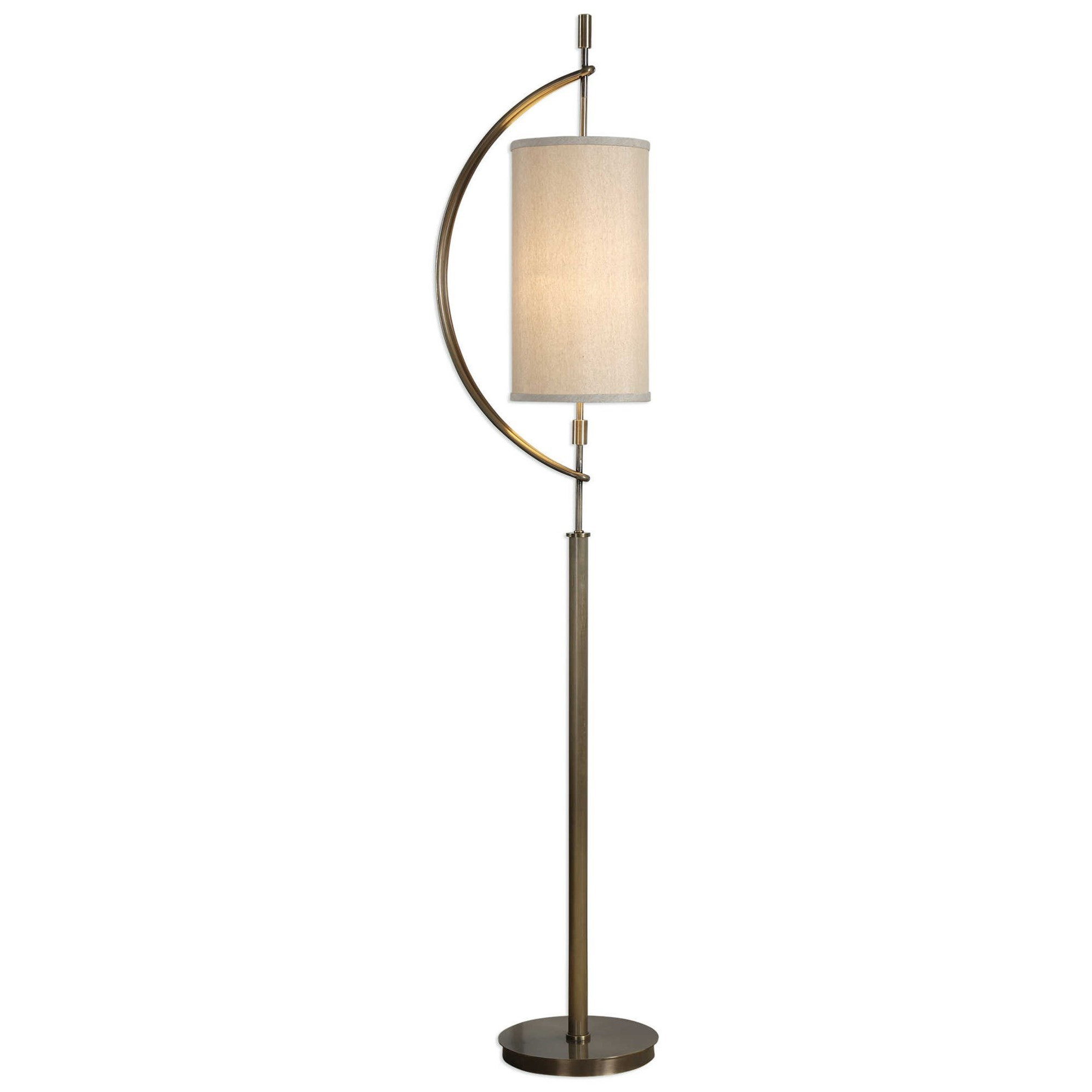 Uttermost lamps 28151 1 balaour antique brass floor lamp for Babyliss floor lamp antique brass