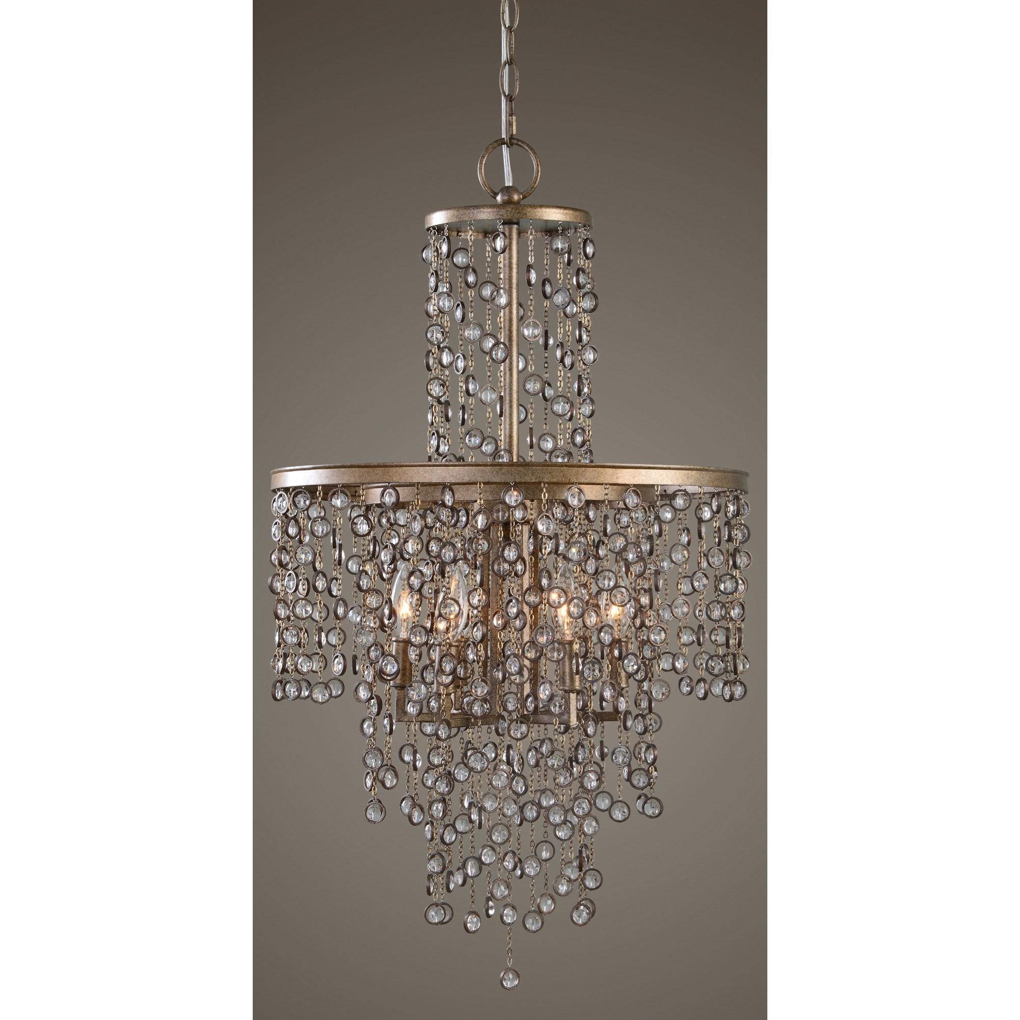 Uttermost lighting fixtures 21288 valka 6 light crystal for 6 light crystal chandelier