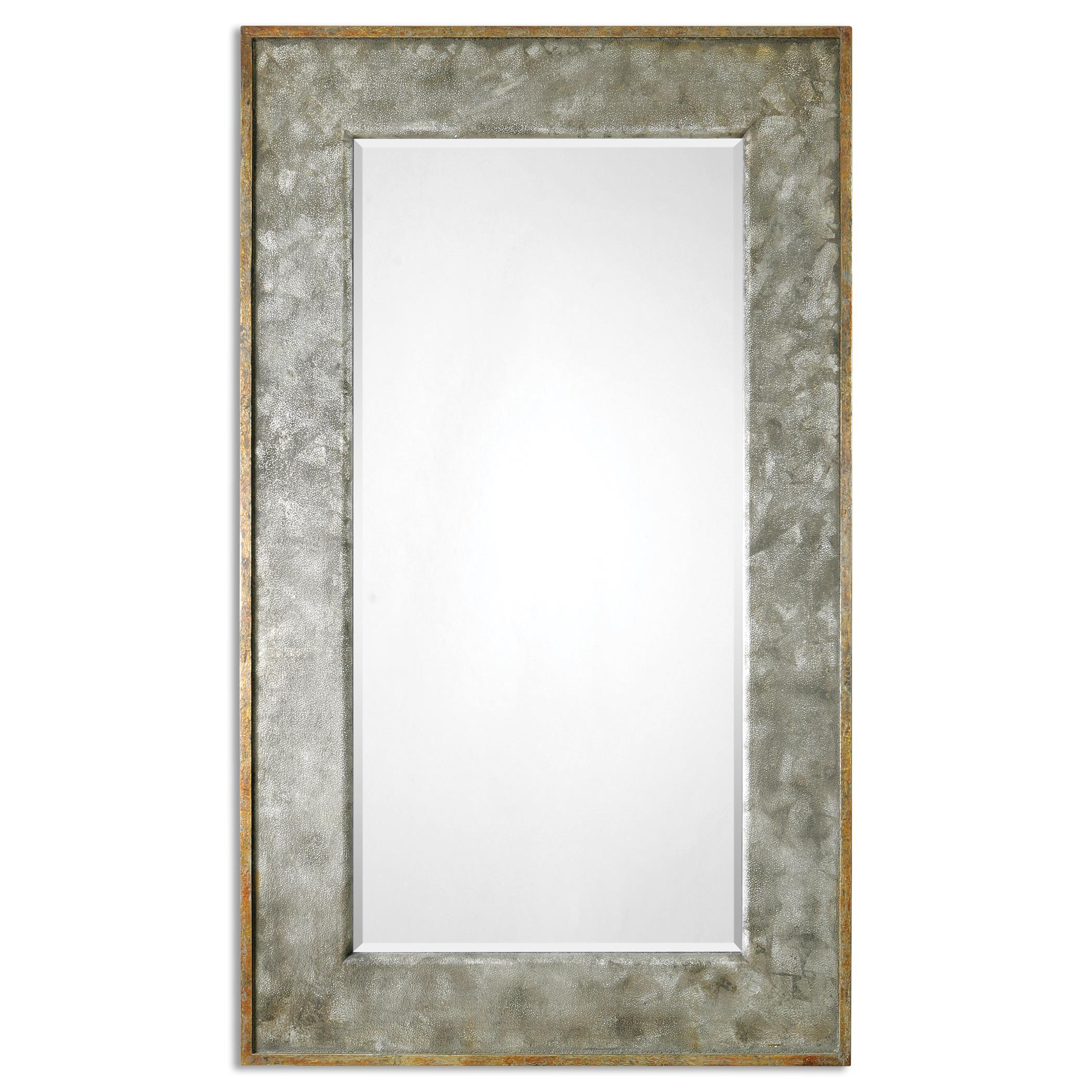 Uttermost mirrors 07691 leron distressed bronze mirror for Bronze mirror