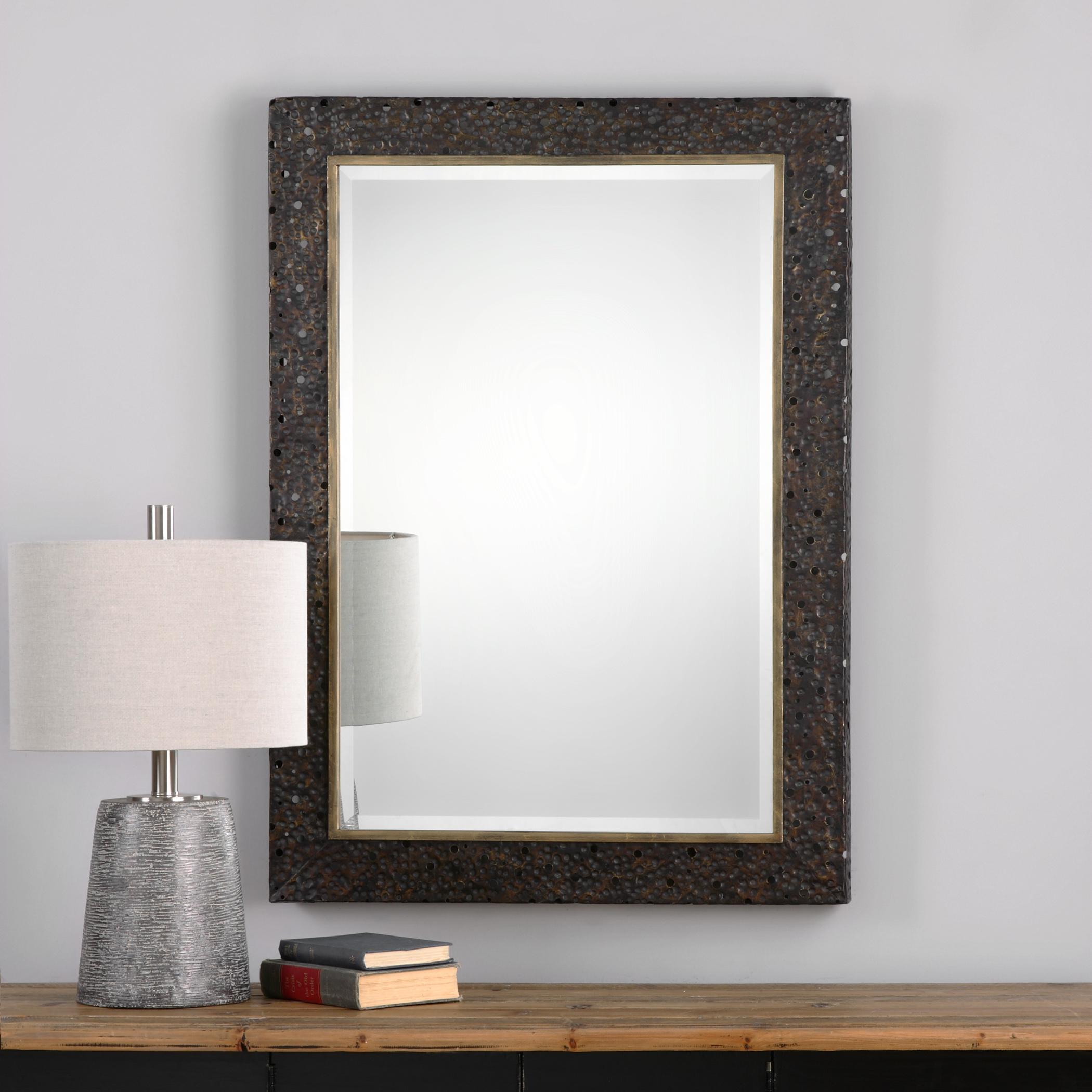 Uttermost mirrors 09101 khalil dark bronze mirror del for Bronze mirror