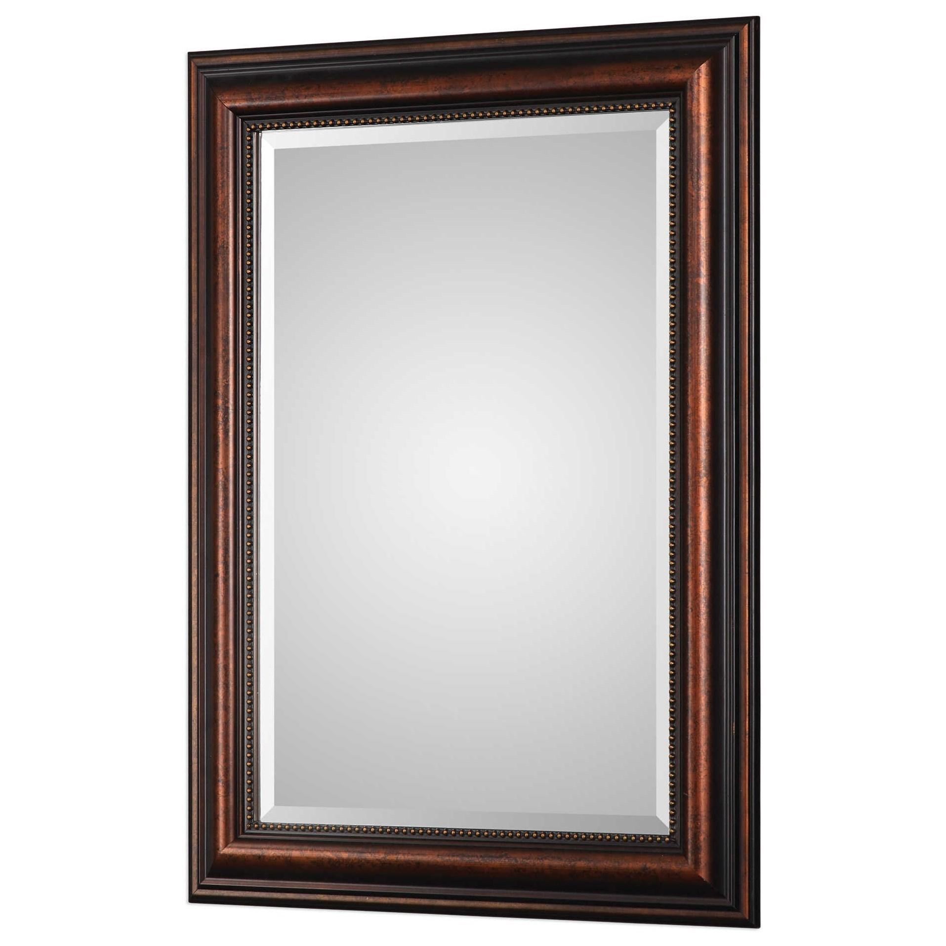 Uttermost mirrors stuart rubbed bronze mirror miskelly for Bronze mirror
