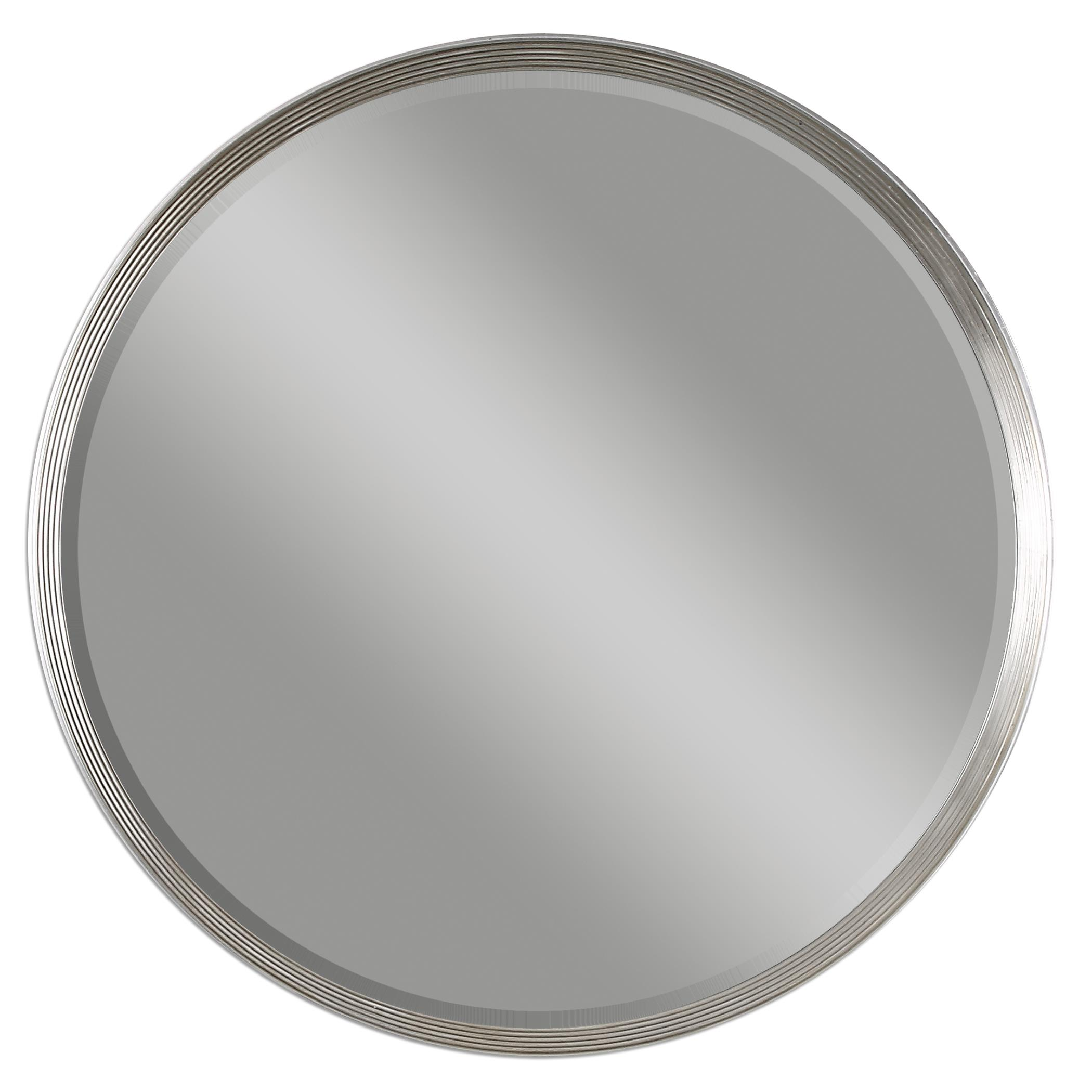 uttermost mirrors 14547 serenza round silver mirror del sol furniture wall mirrors. Black Bedroom Furniture Sets. Home Design Ideas