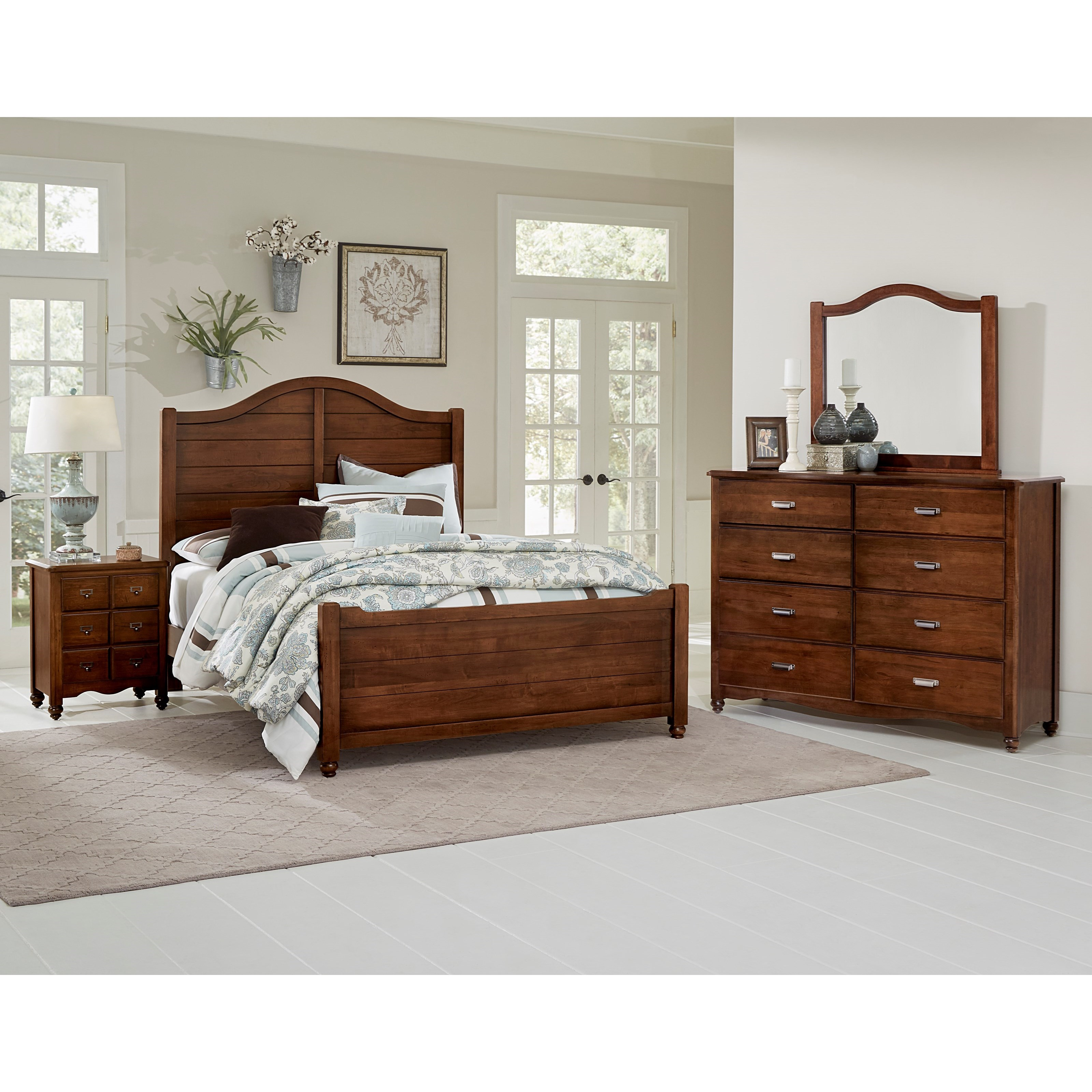 Vaughan bassett american maple solid wood twin shiplap bed for American federal bedroom furniture