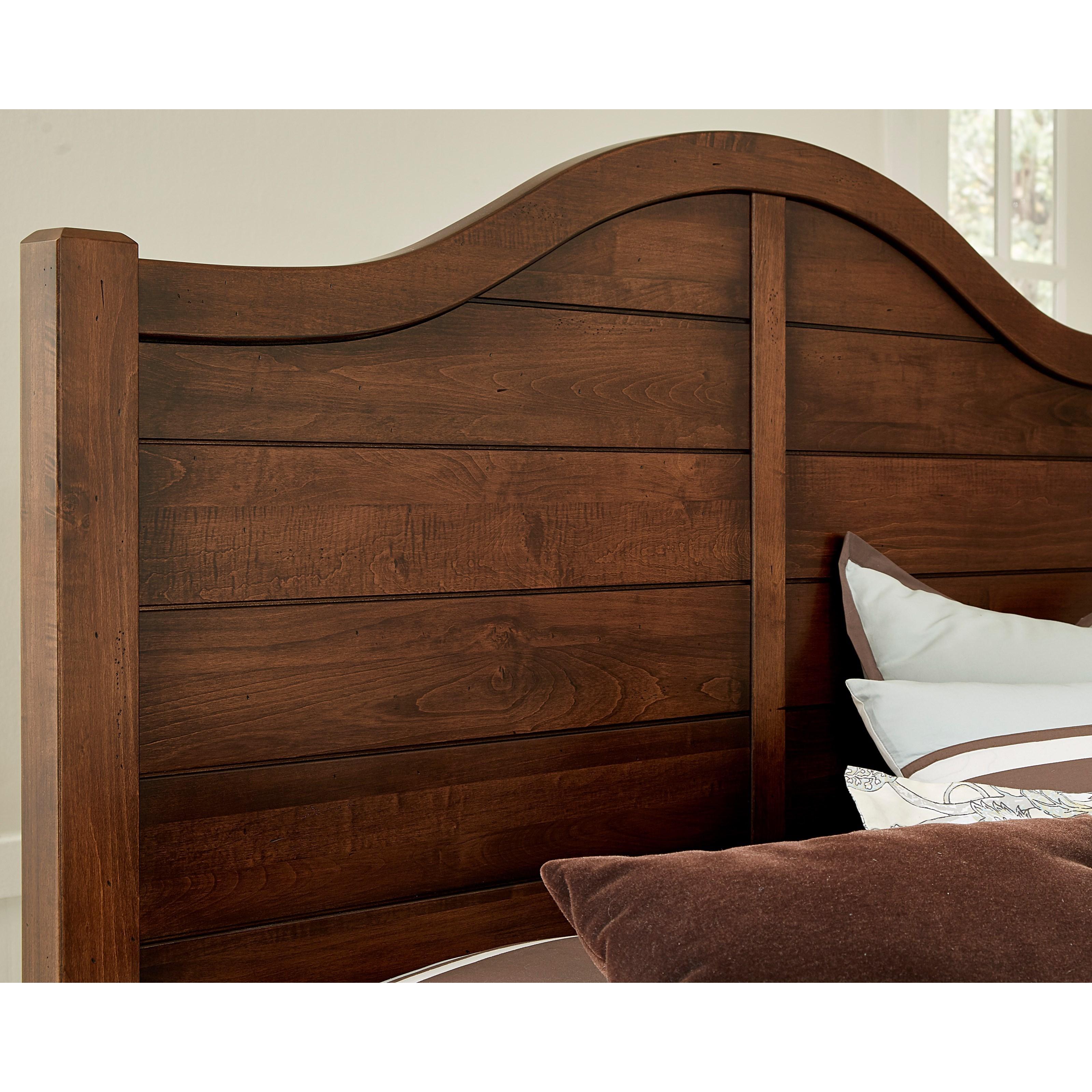 Vaughan bassett american maple 400 449 solid wood full for Full headboard