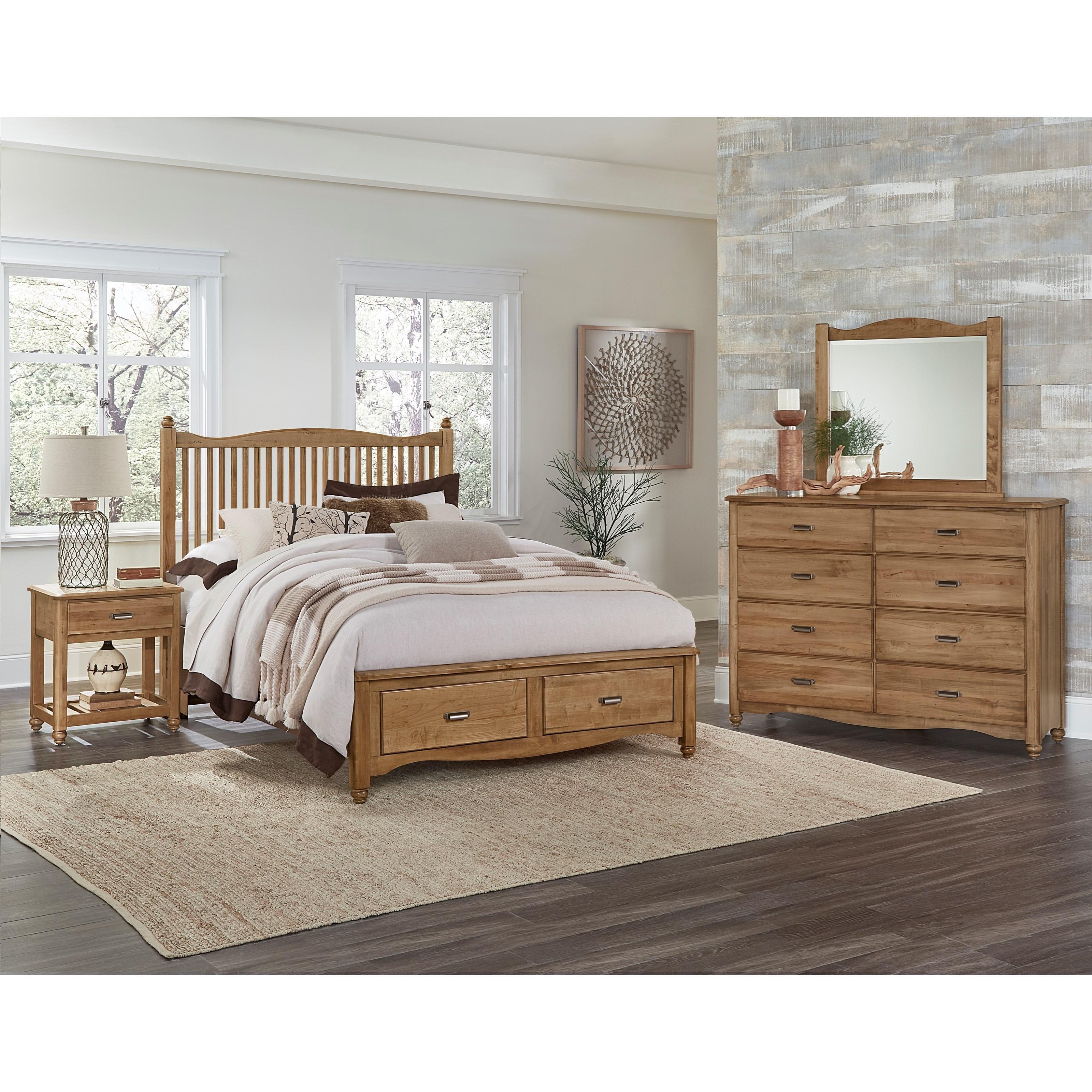 american maple king bedroom group item number 402 k bedroom group 3