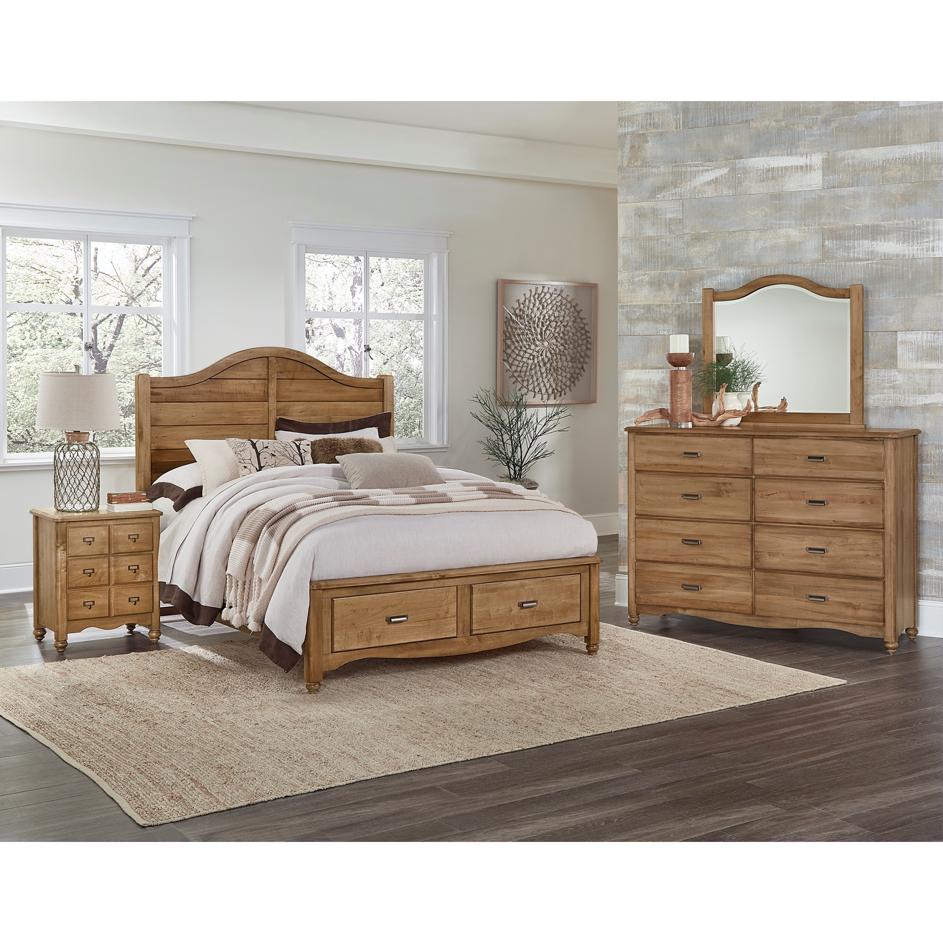 vaughan bassett american maple queen bedroom group belfort furniture bedroom groups. Black Bedroom Furniture Sets. Home Design Ideas
