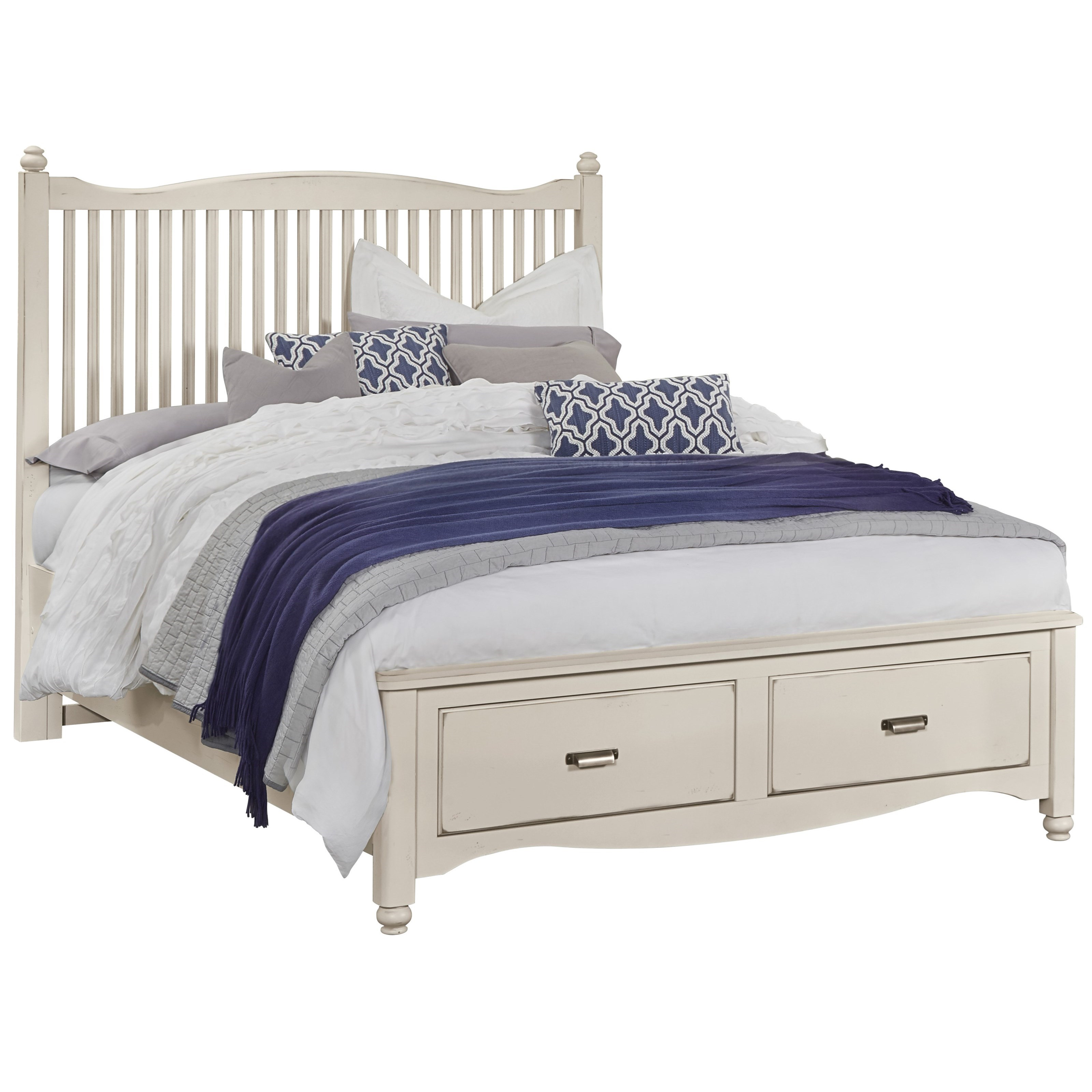 Vaughan Bassett American Maple Solid Wood Queen Slat Storage Bed Value City Furniture