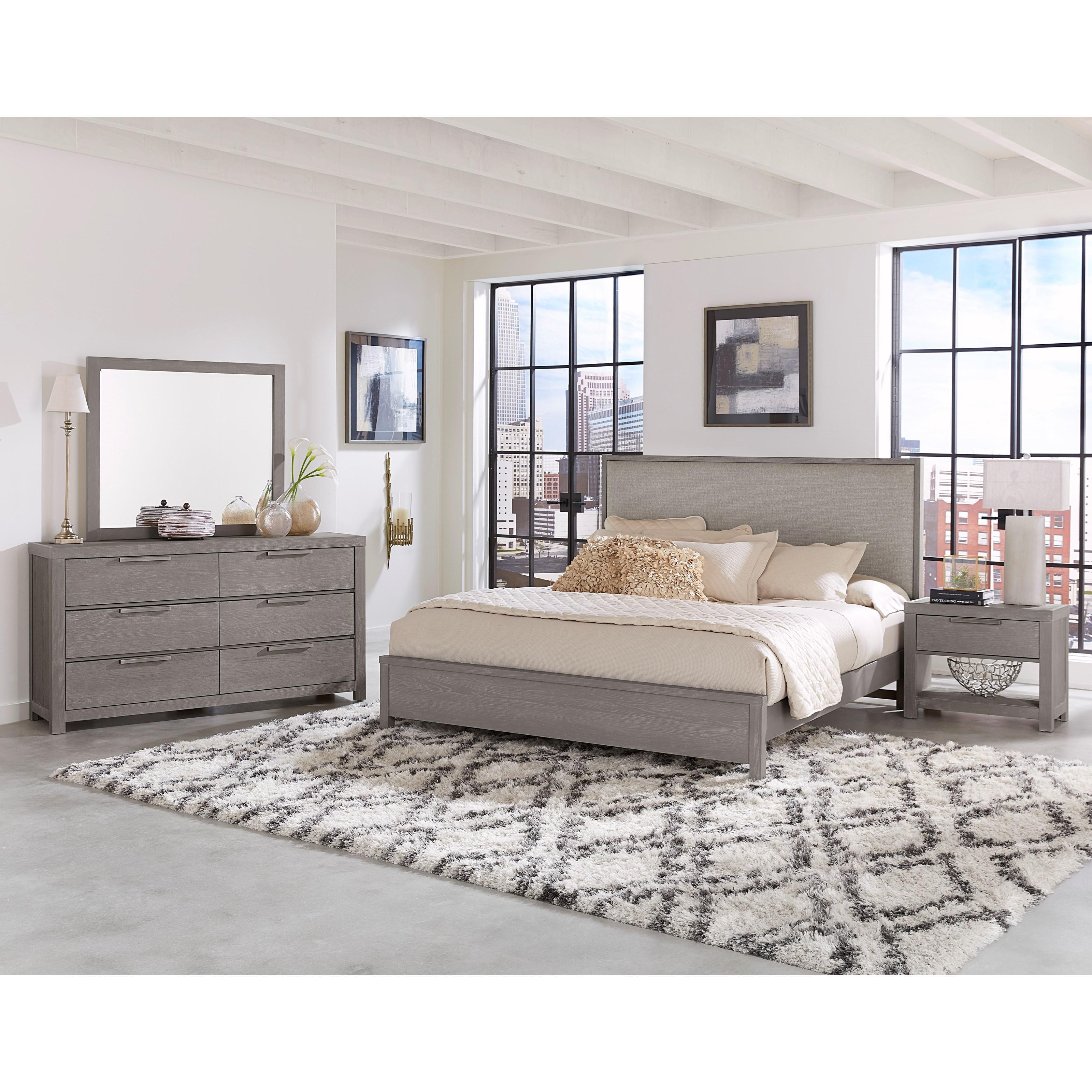 Vaughan bassett american modern king bedroom group for Bedroom groups