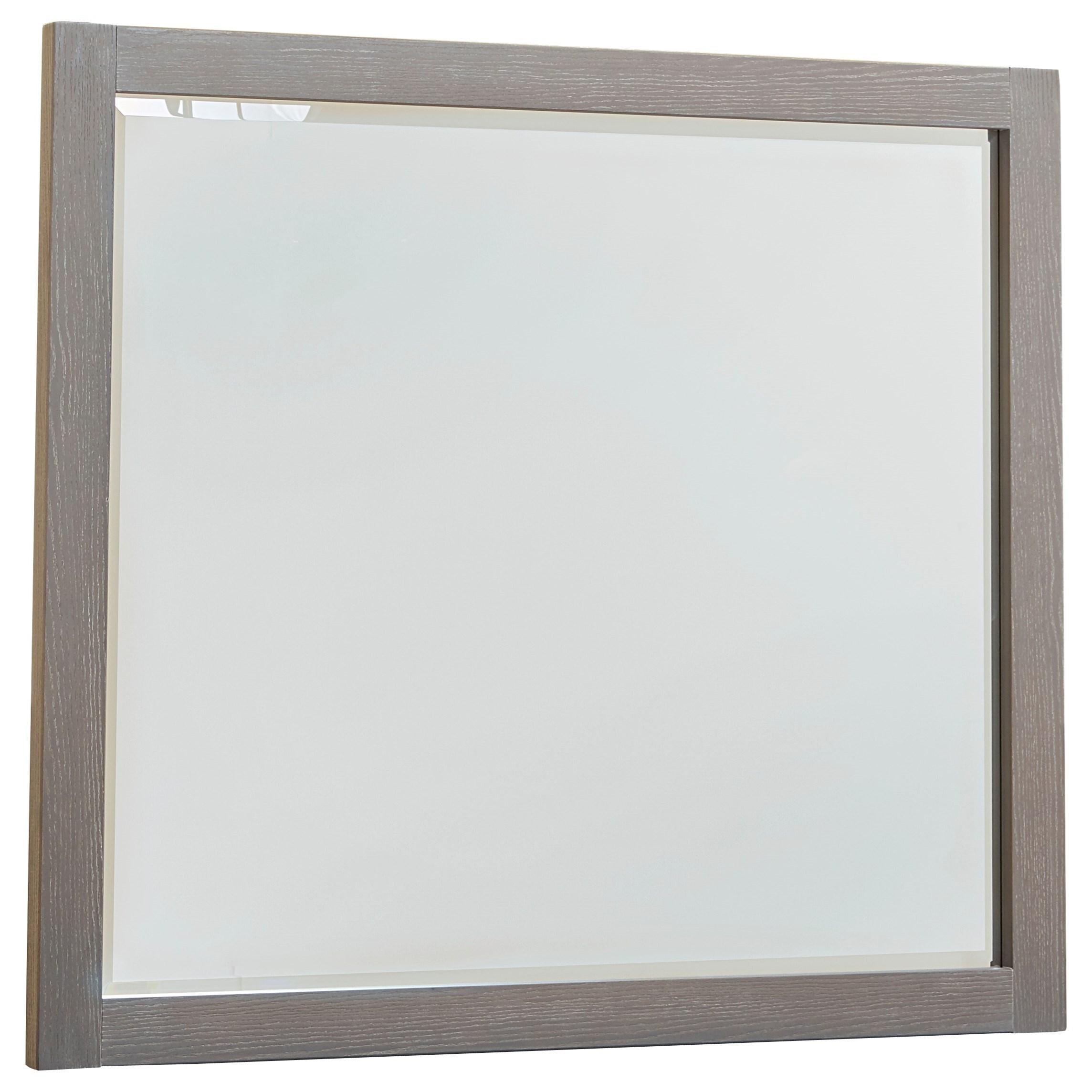 Vaughan bassett american modern landscape mirror beveled for Beveled glass mirror
