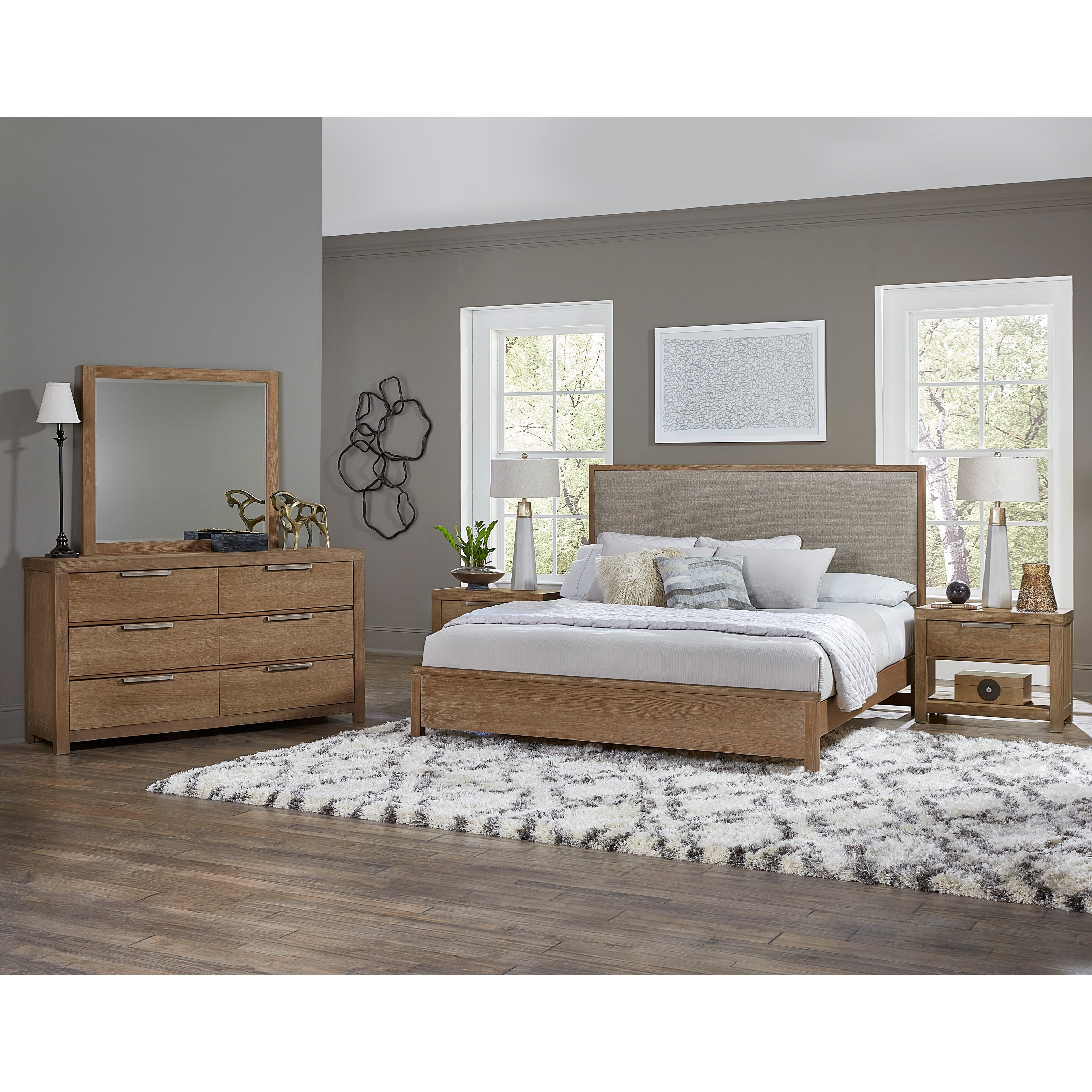 modern bedroom furniture nj vaughan bassett american modern upholstered bed 16271