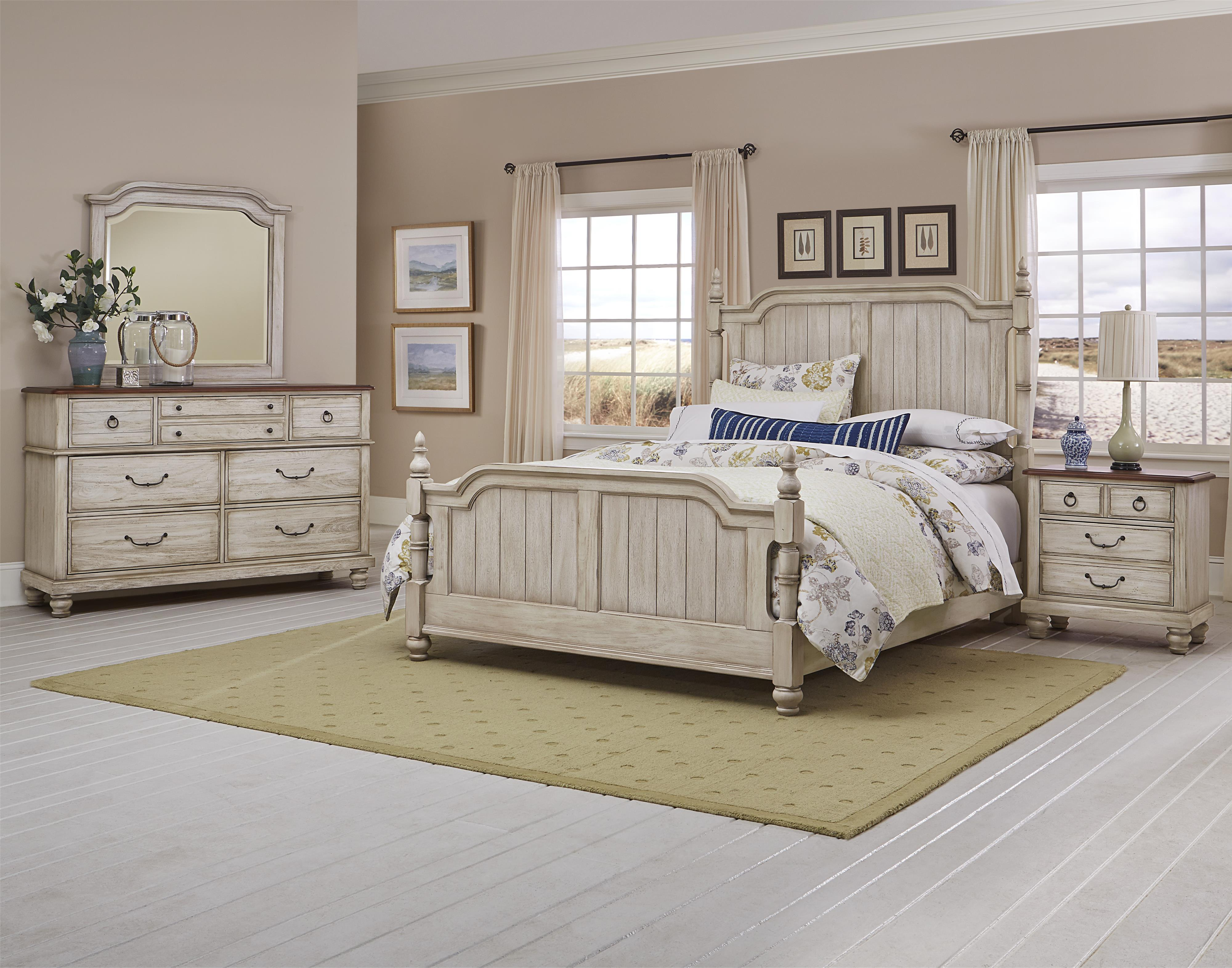Vaughan bassett arrendelle king bedroom group wayside for Bedroom furniture groups