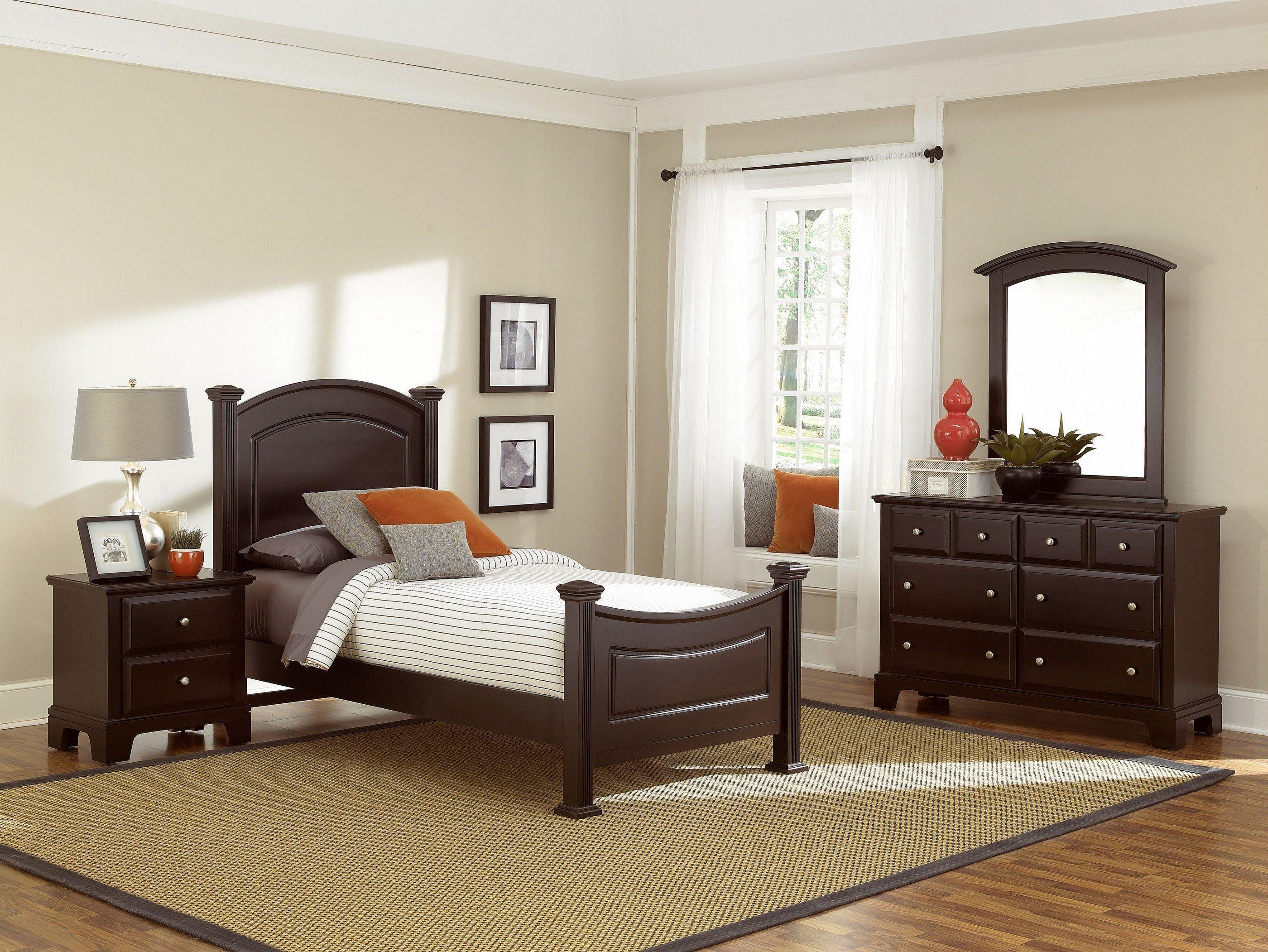 Vaughan Bassett Hamilton Franklin Twin Bedroom Group Darvin Furniture Bed