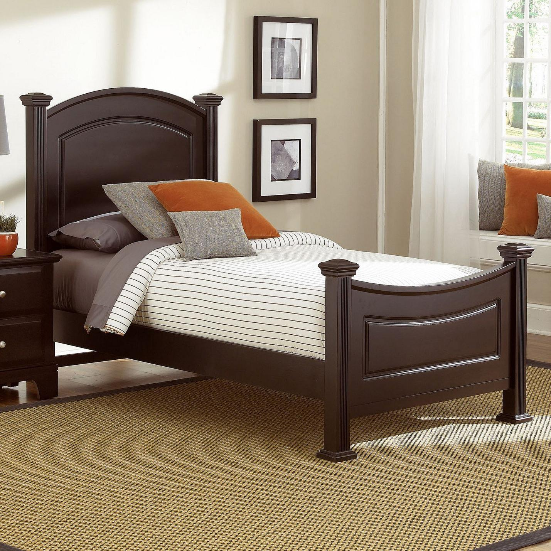 Vaughan bassett hamilton franklin twin panel bed knight for Panel bed mattress