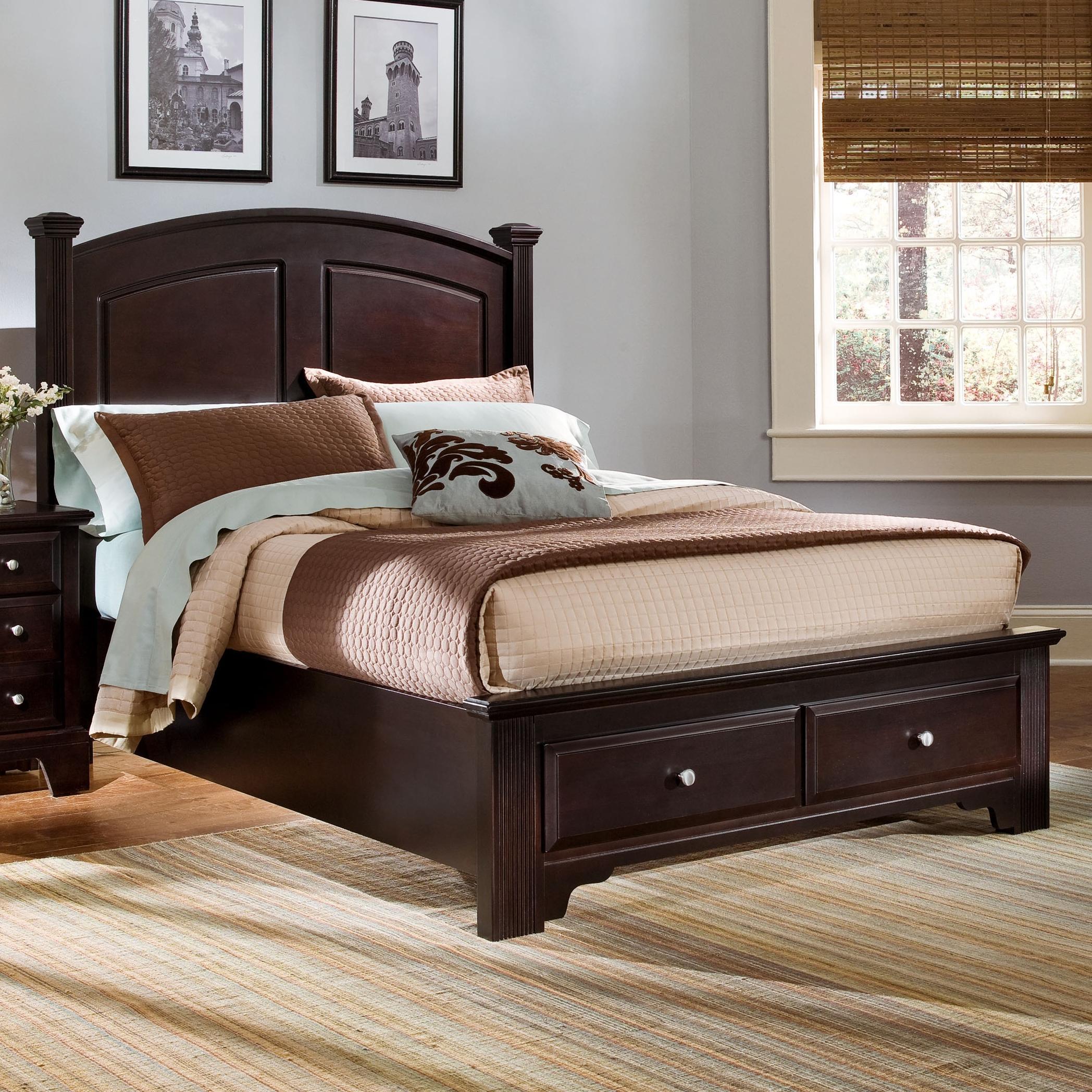 vaughan bassett hamilton king panel storage bed belfort. Black Bedroom Furniture Sets. Home Design Ideas