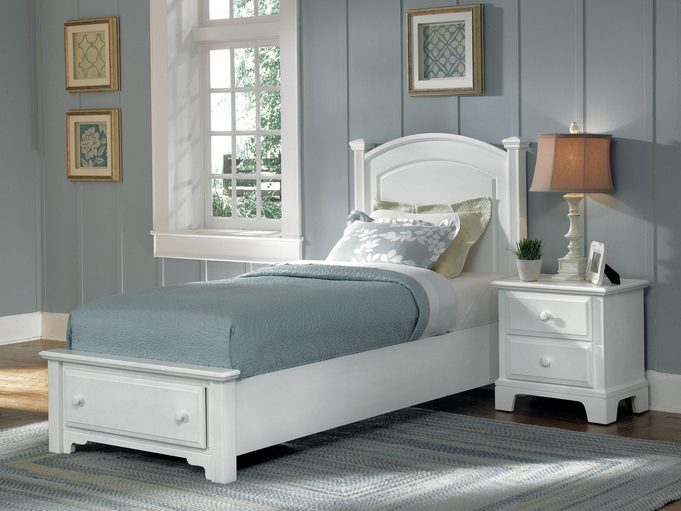 Vaughan Bassett Hamilton Franklin Twin Panel Storage Bed Belfort Furniture