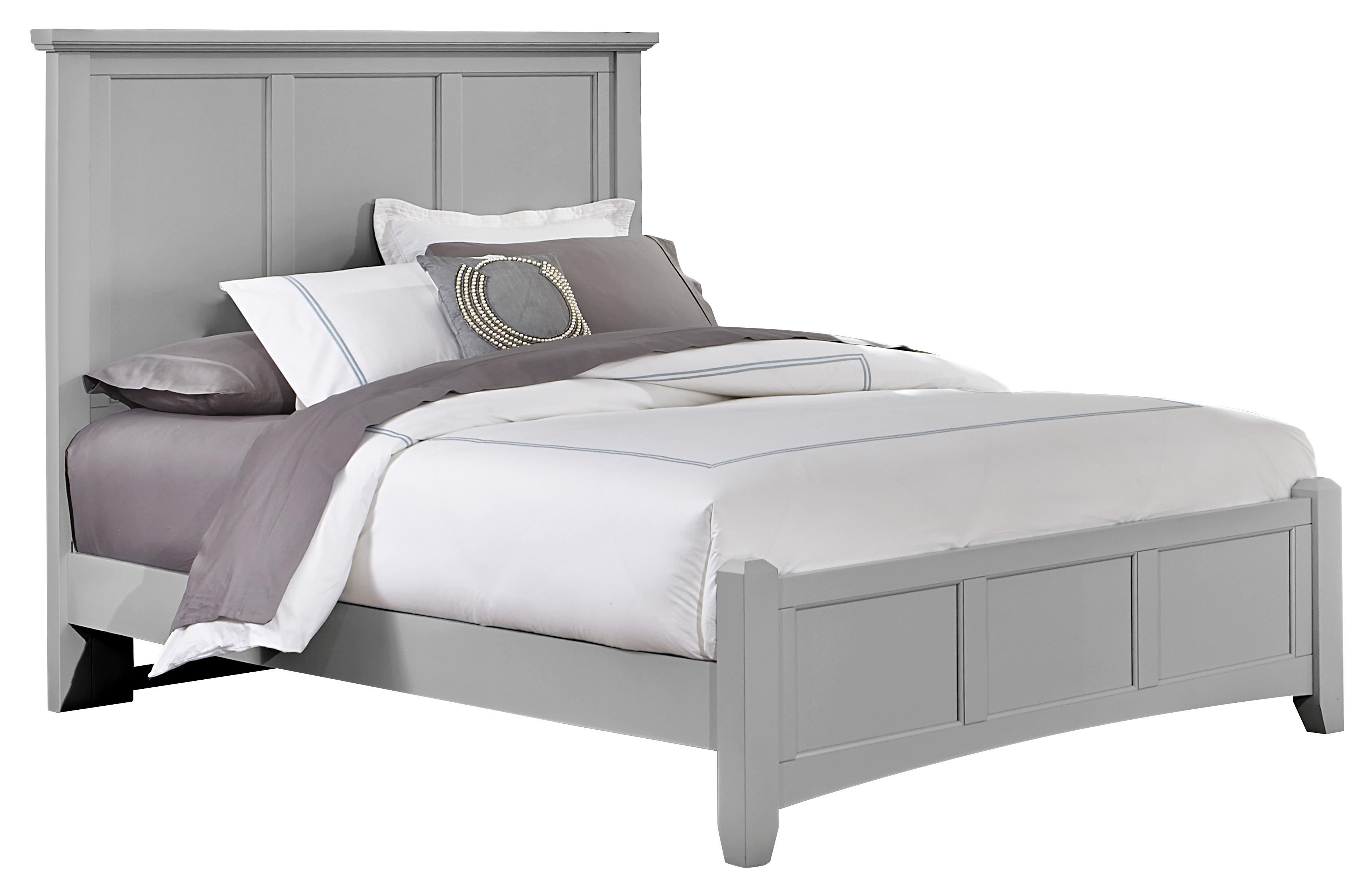 vaughan bassett bonanza california king mansion bed with low profile footboard olinde 39 s. Black Bedroom Furniture Sets. Home Design Ideas
