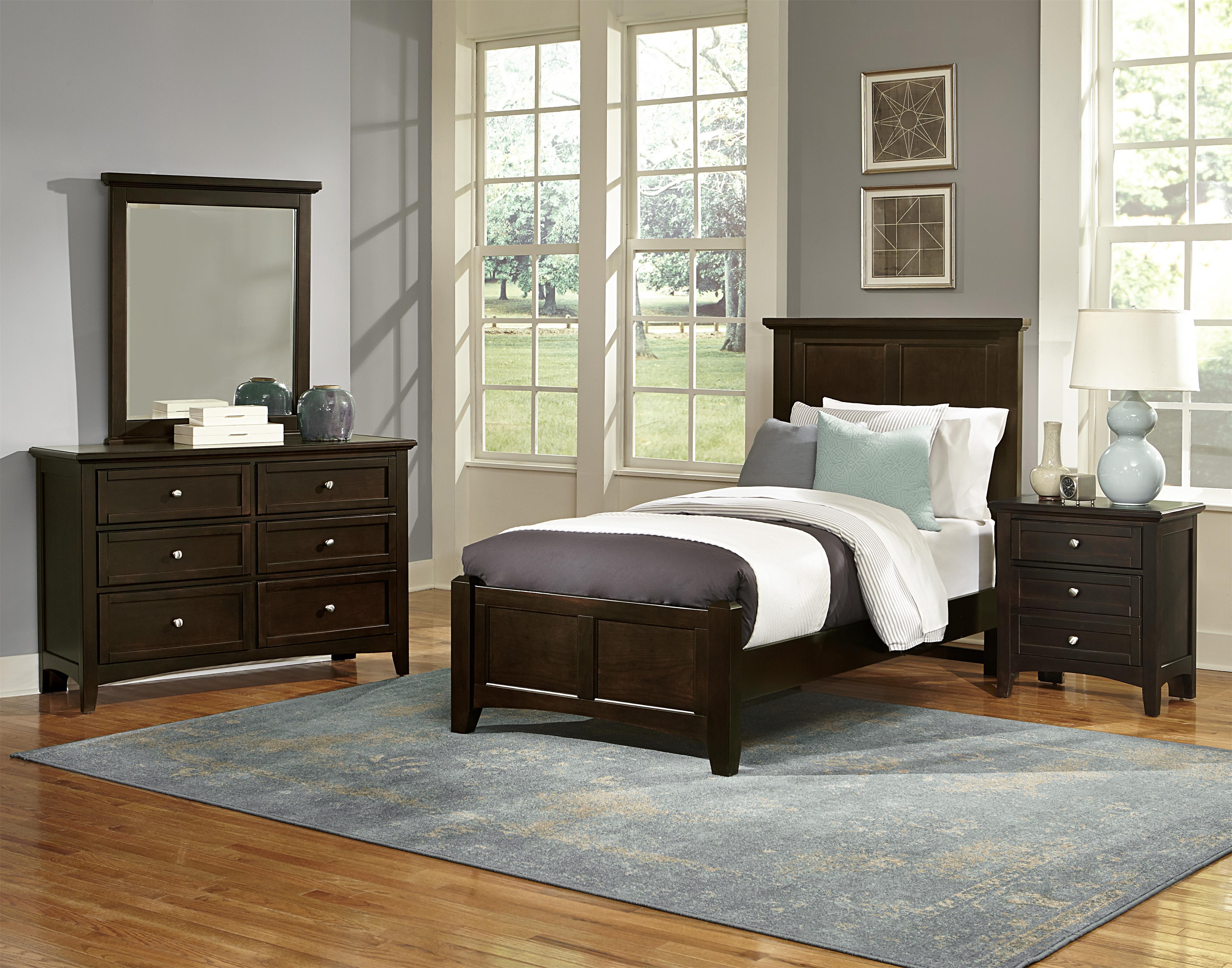 Vaughan Bassett Bonanza Twin Bedroom Group Belfort Furniture Bedroom Groups