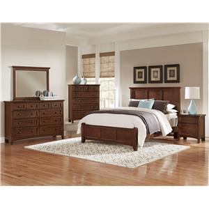 Vaughan Bassett French Market Queen Bedroom Group Steger