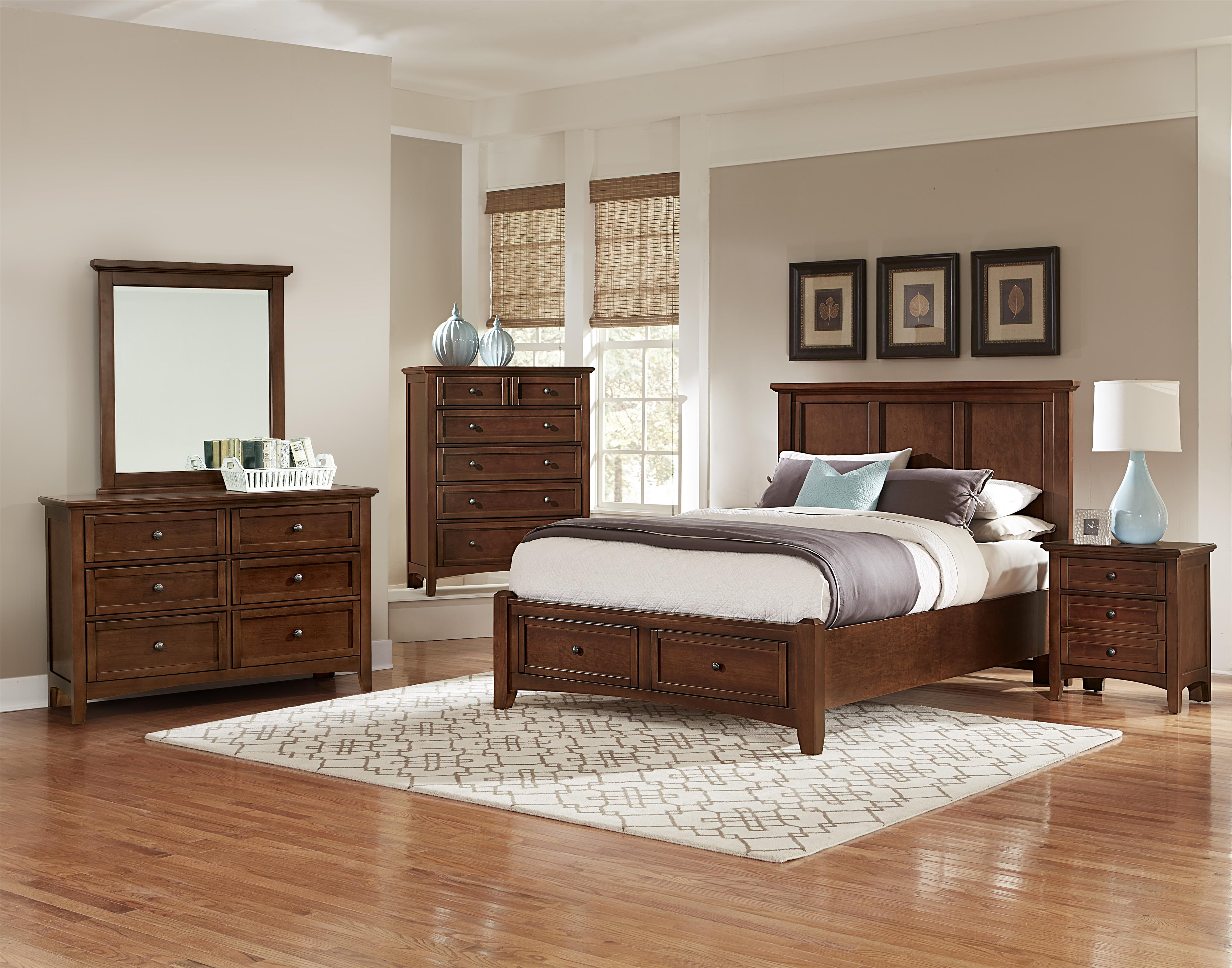 Vaughan bassett bonanza king bedroom group knight for Bedroom furniture groups