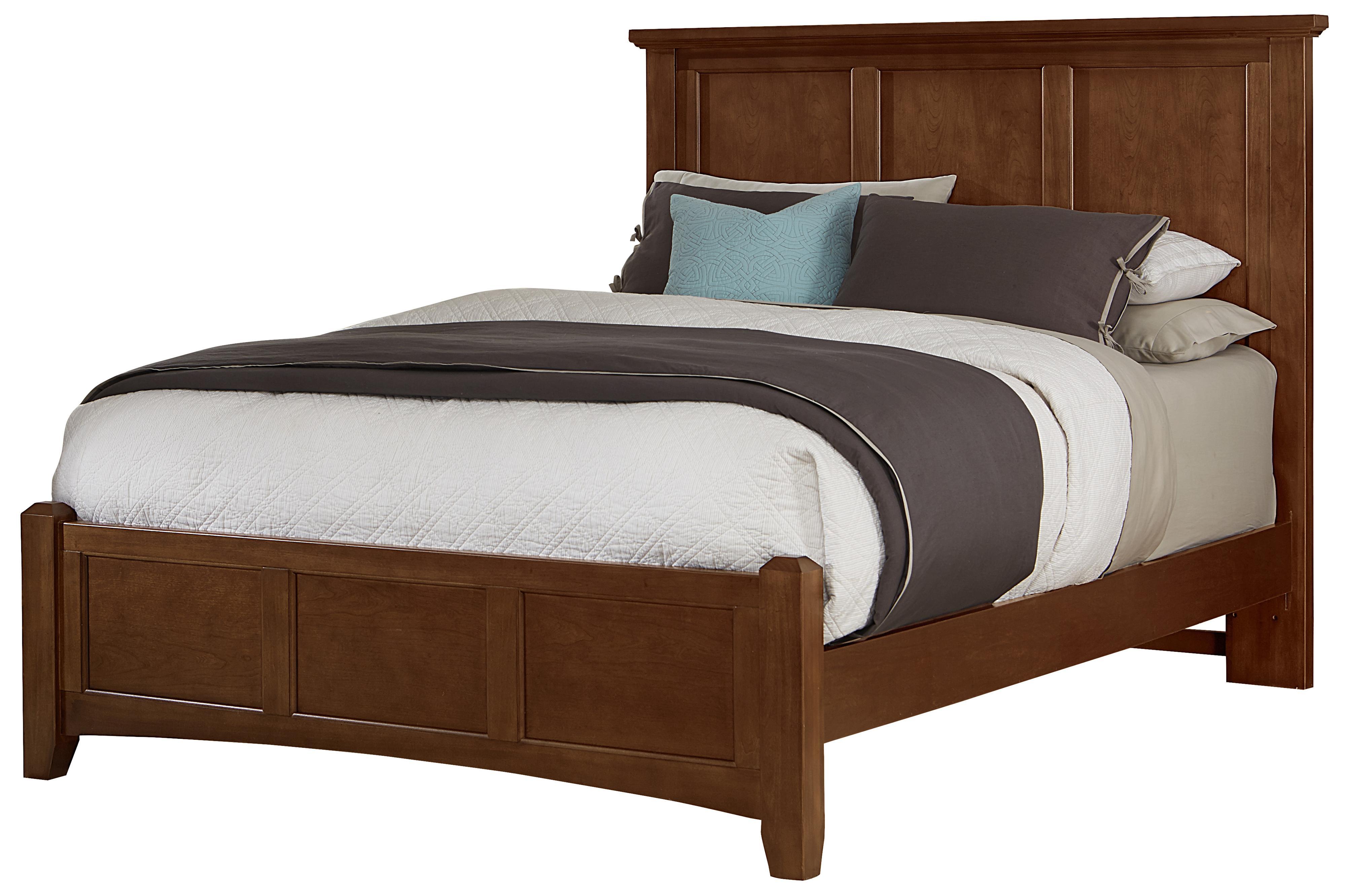 vaughan bassett bonanza king mansion bed with low profile footboard belfort furniture panel beds. Black Bedroom Furniture Sets. Home Design Ideas