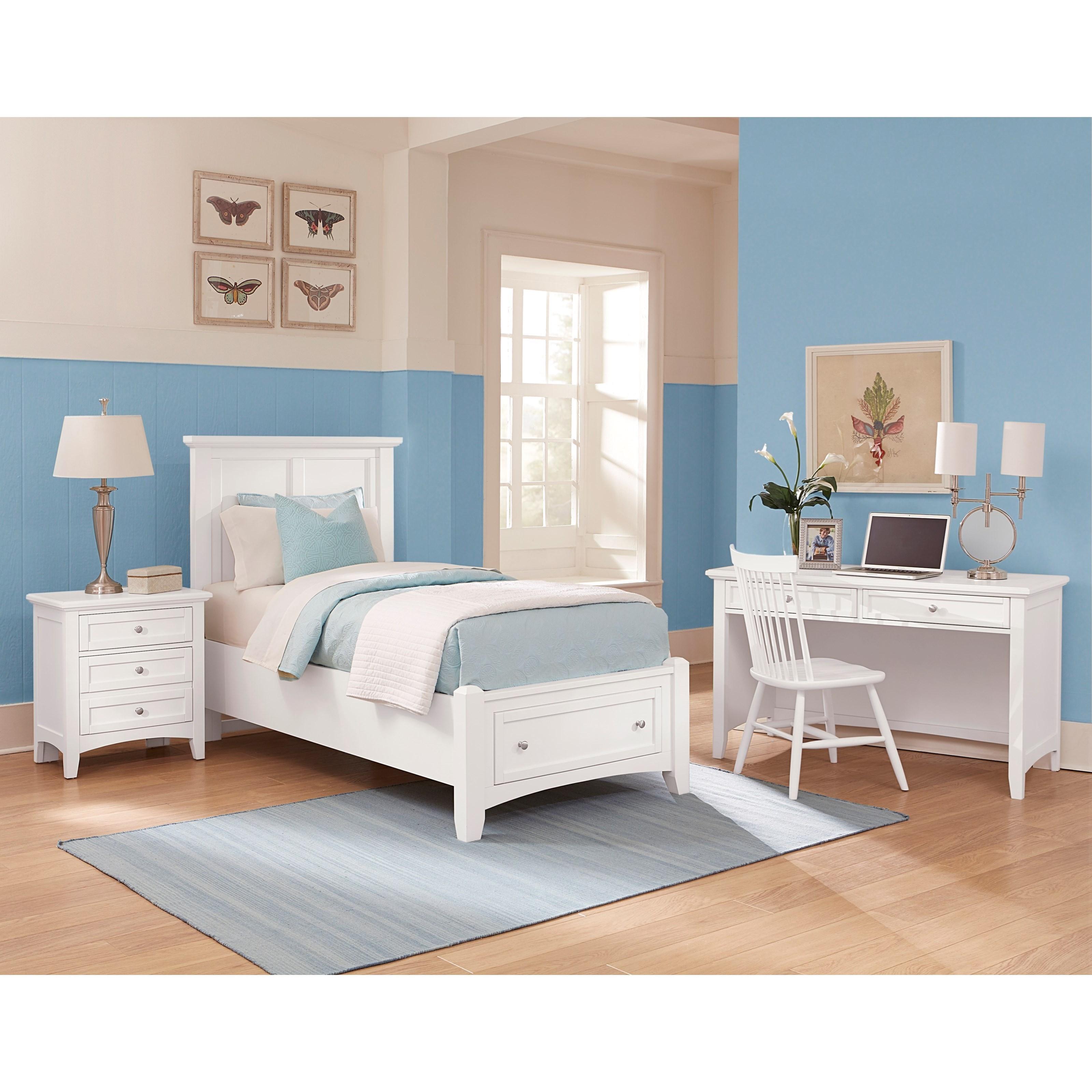 vaughan bassett bonanza twin bedroom group hudson 39 s furniture bedroom groups. Black Bedroom Furniture Sets. Home Design Ideas