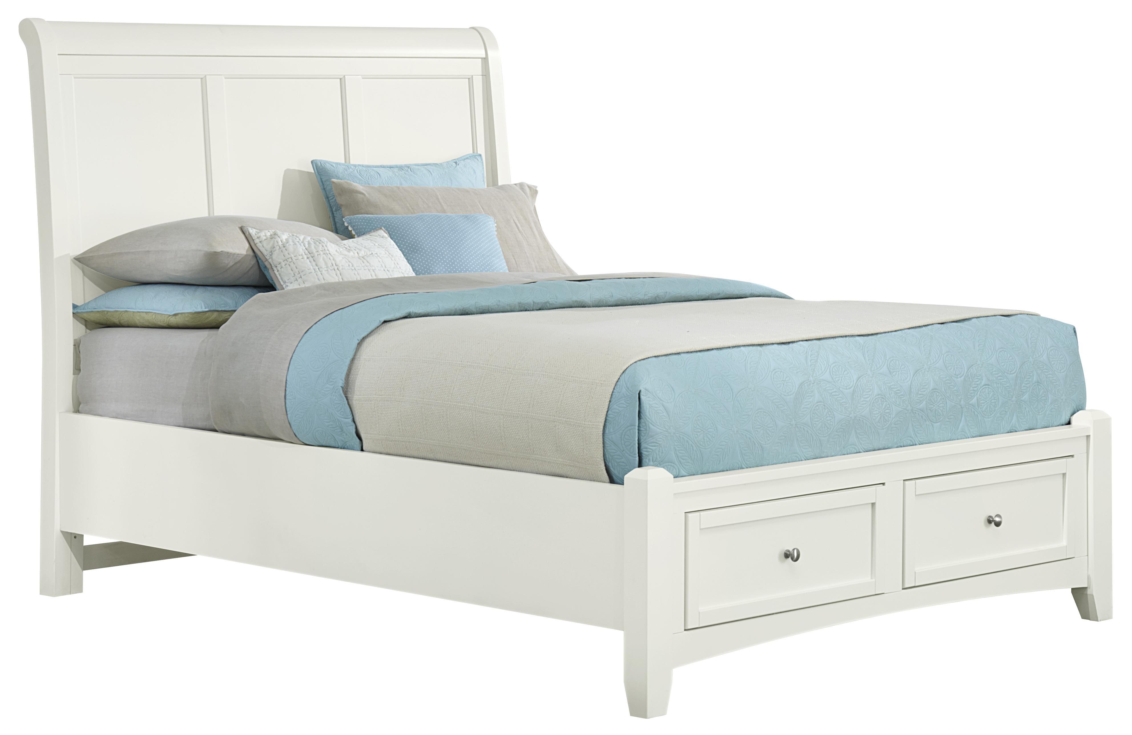 vaughan bassett bonanza full sleigh storage bed with 2 drawers belfort furniture platform. Black Bedroom Furniture Sets. Home Design Ideas