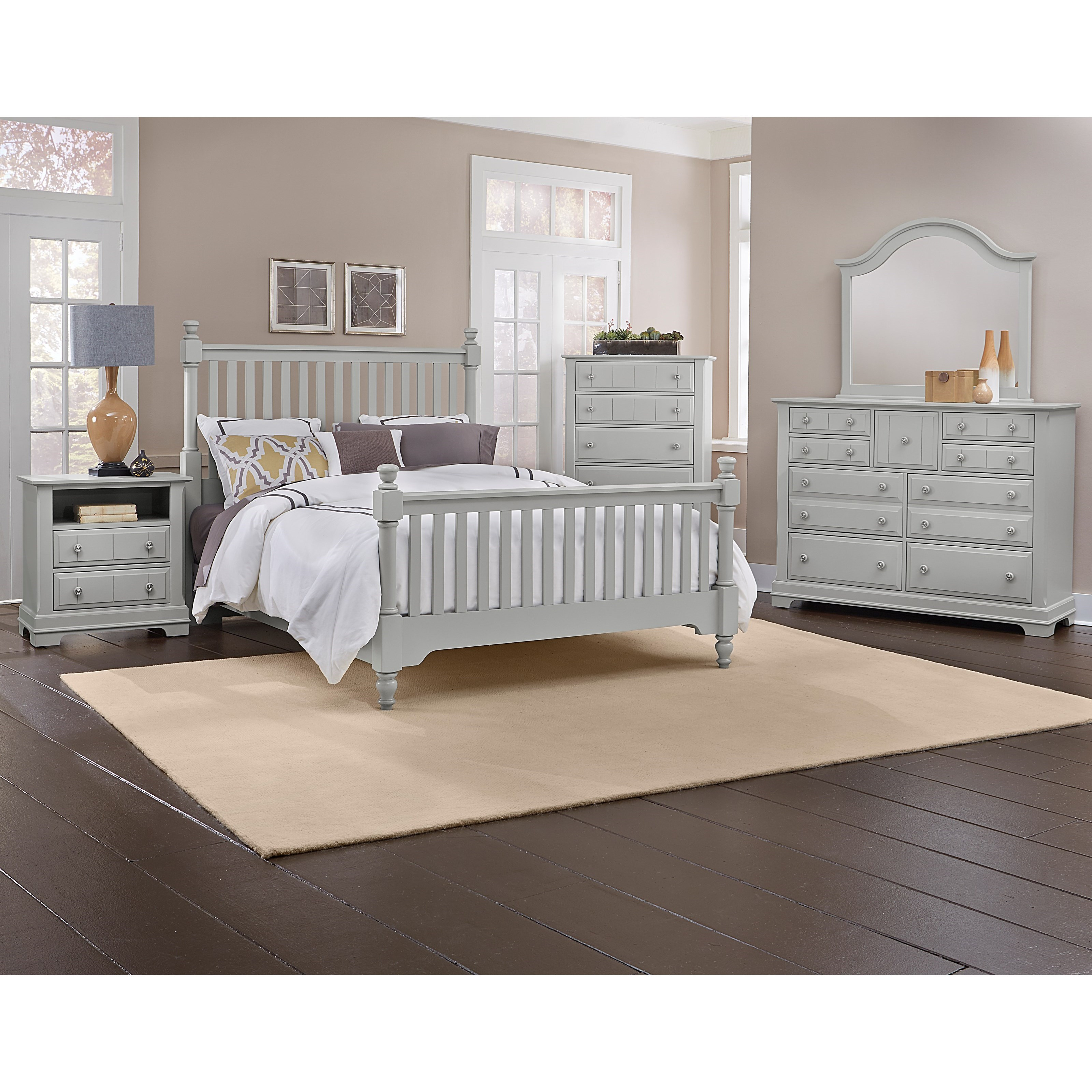 Vaughan bassett cottage california king bedroom group for Bedroom furniture groups