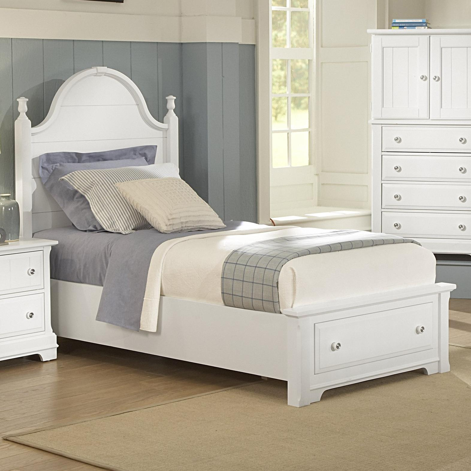 vaughan bassett cottage twin panel storage bed belfort. Black Bedroom Furniture Sets. Home Design Ideas