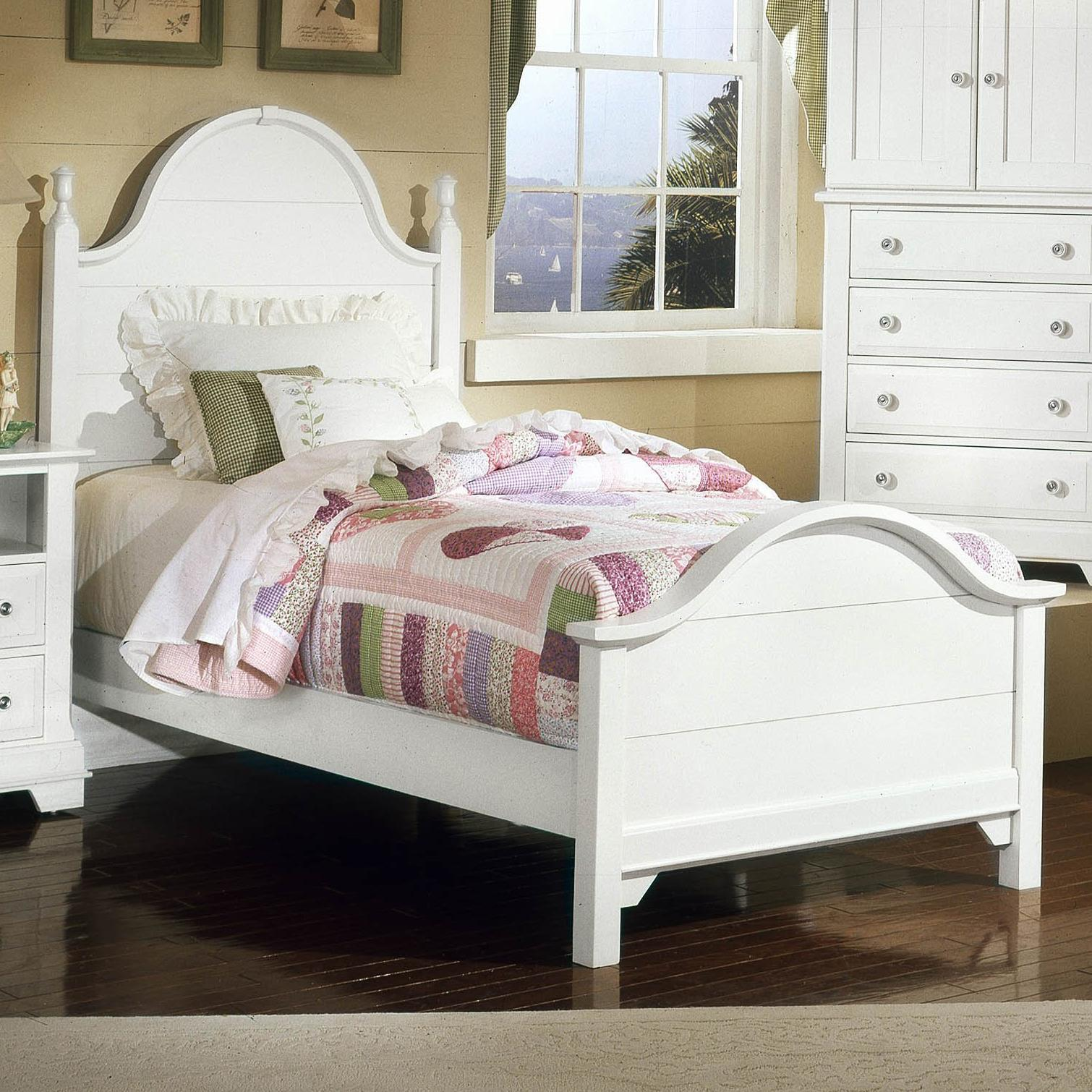Vaughan bassett cottage twin panel bed johnny janosik for Panel bed mattress