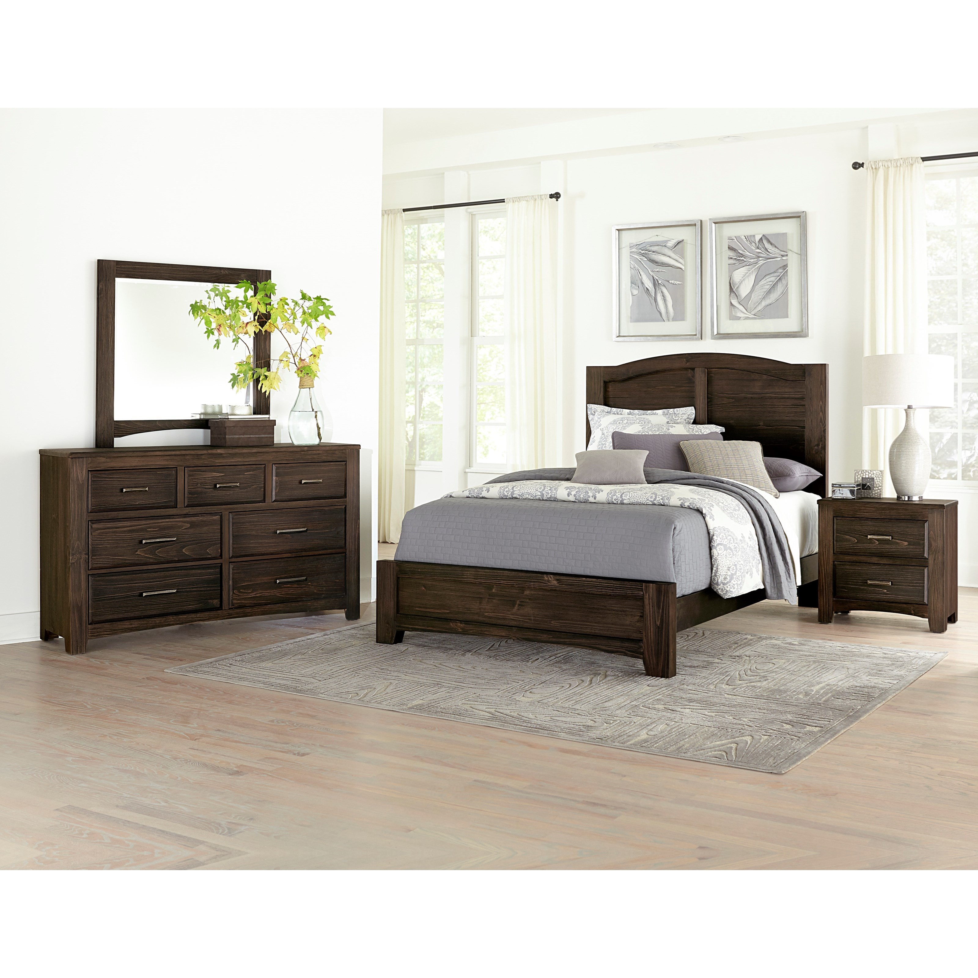 Vaughan bassett cottage too queen bedroom group value for Bedroom groups