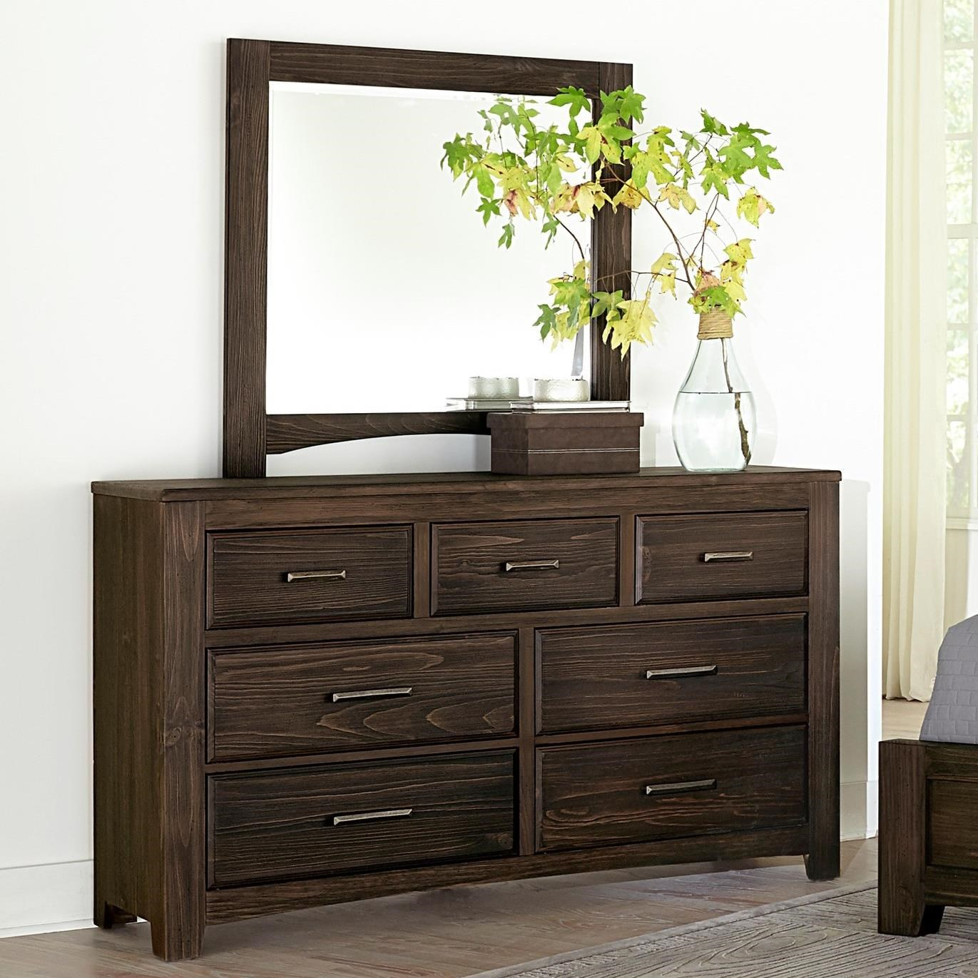 Vaughan Bassett Cottage Too Vintage Seven Drawer Dresser And Mirror Set Jacksonville Furniture