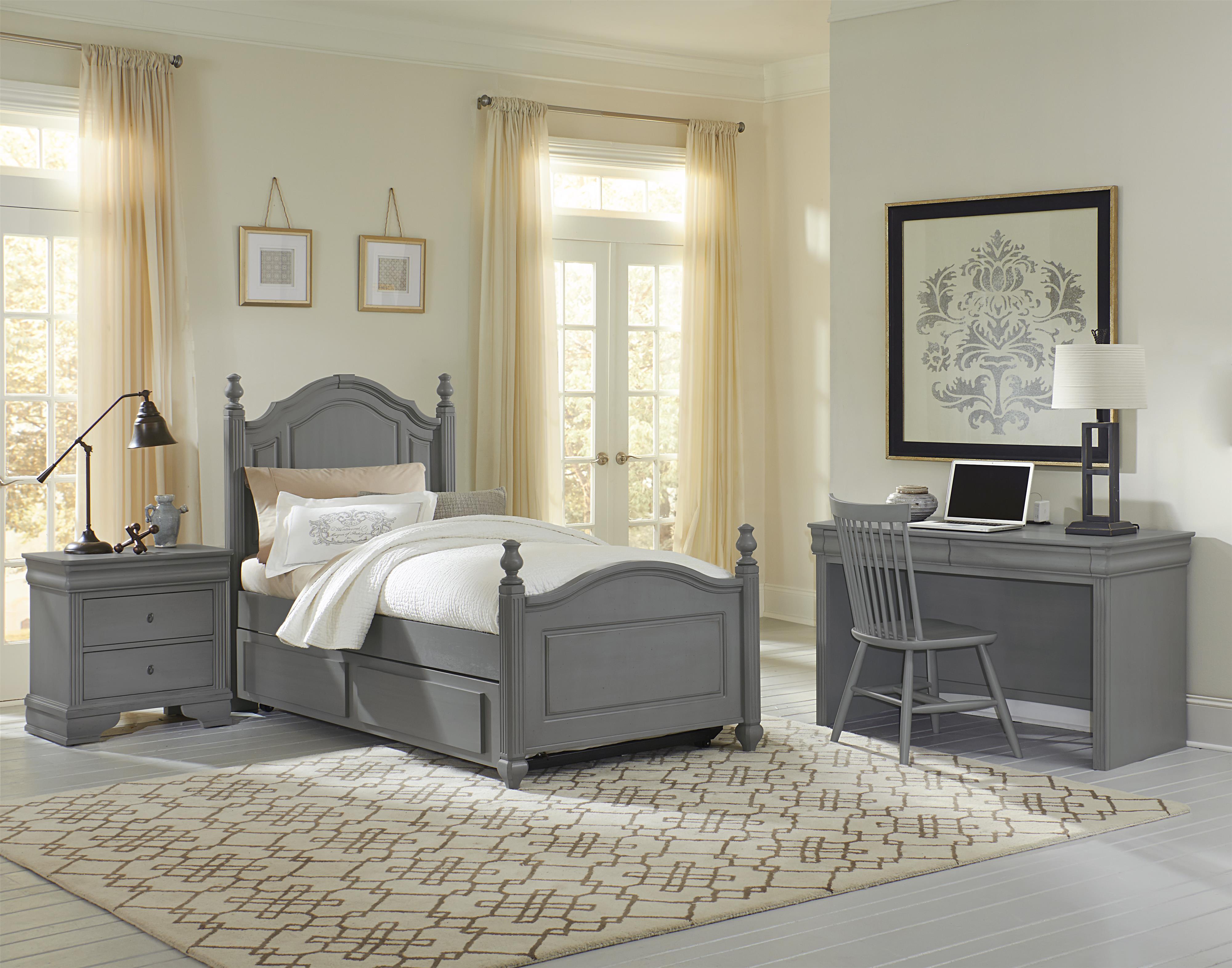 Vaughan Bassett French Market Twin Bedroom Group Dunk & Bright Furnitur