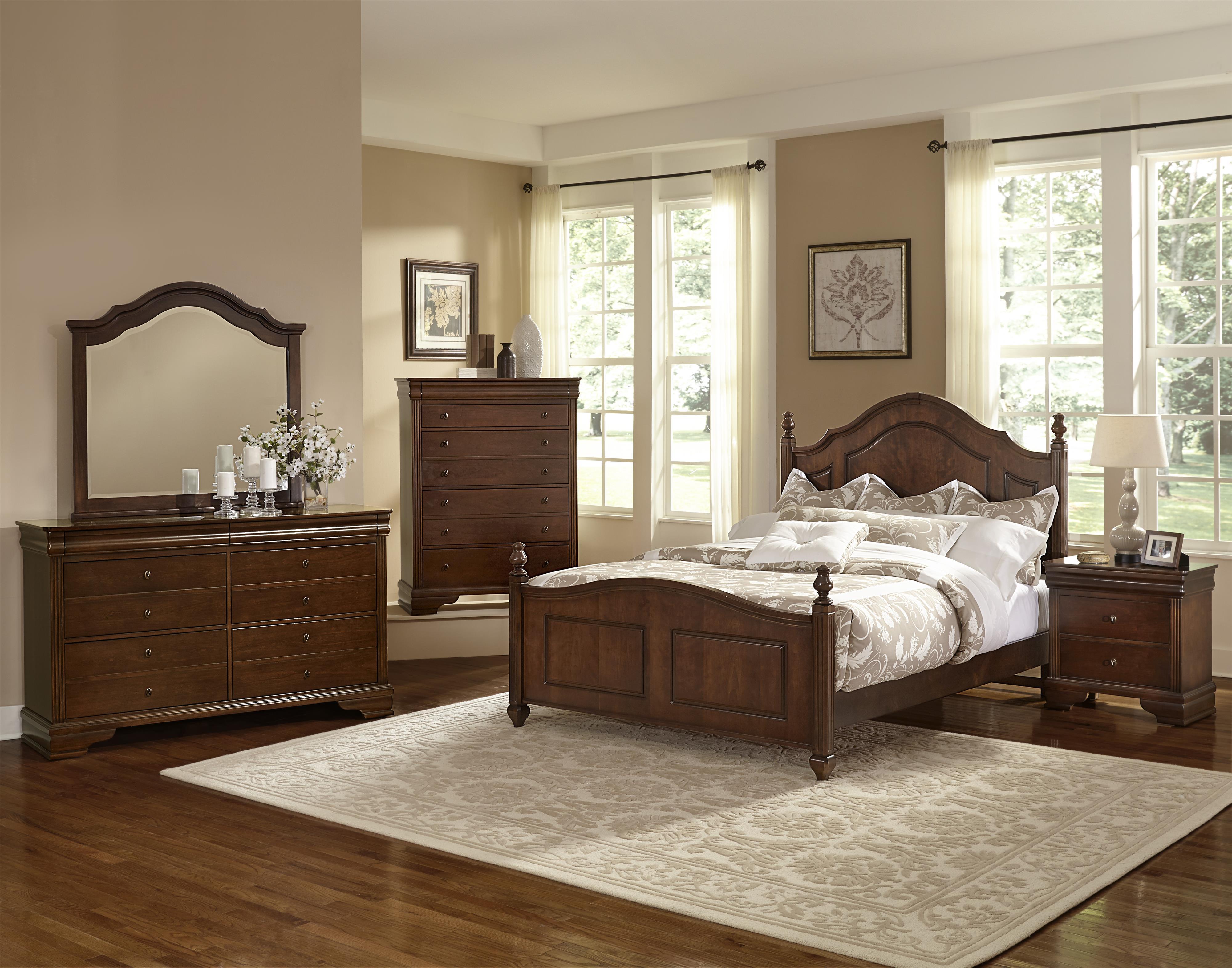 Vaughan Bassett French Market Full Bedroom Group Belfort