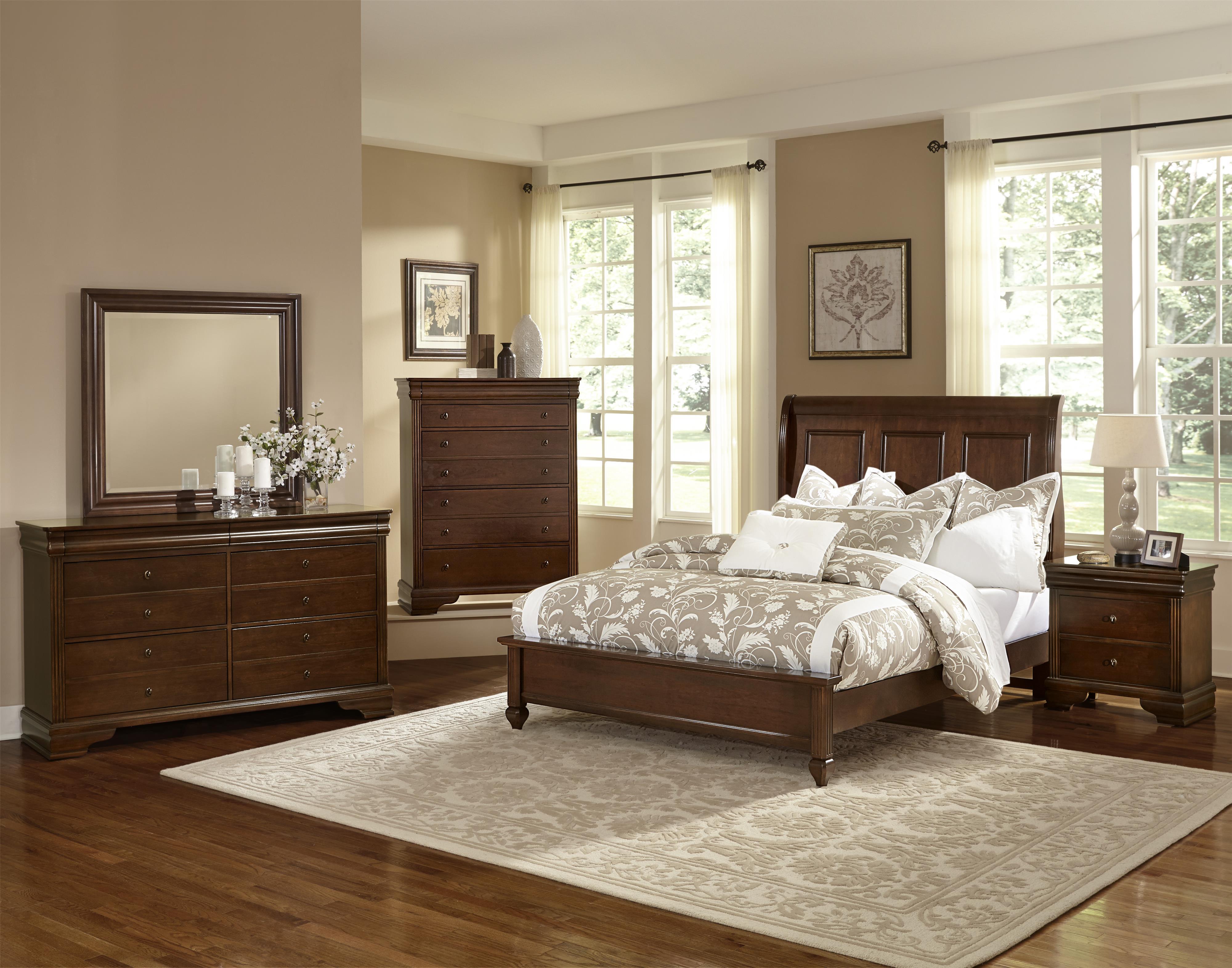 vaughan bassett french market queen bedroom group belfort furniture