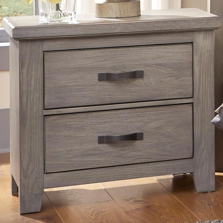 Vaughan Bassett Cassell Park 516 226 Night Stand With Two Self Closing Drawers Hudson 39 S
