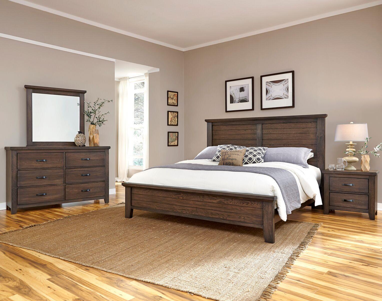 Vaughan bassett cassell park queen bedroom group dunk for Bassett bedroom furniture