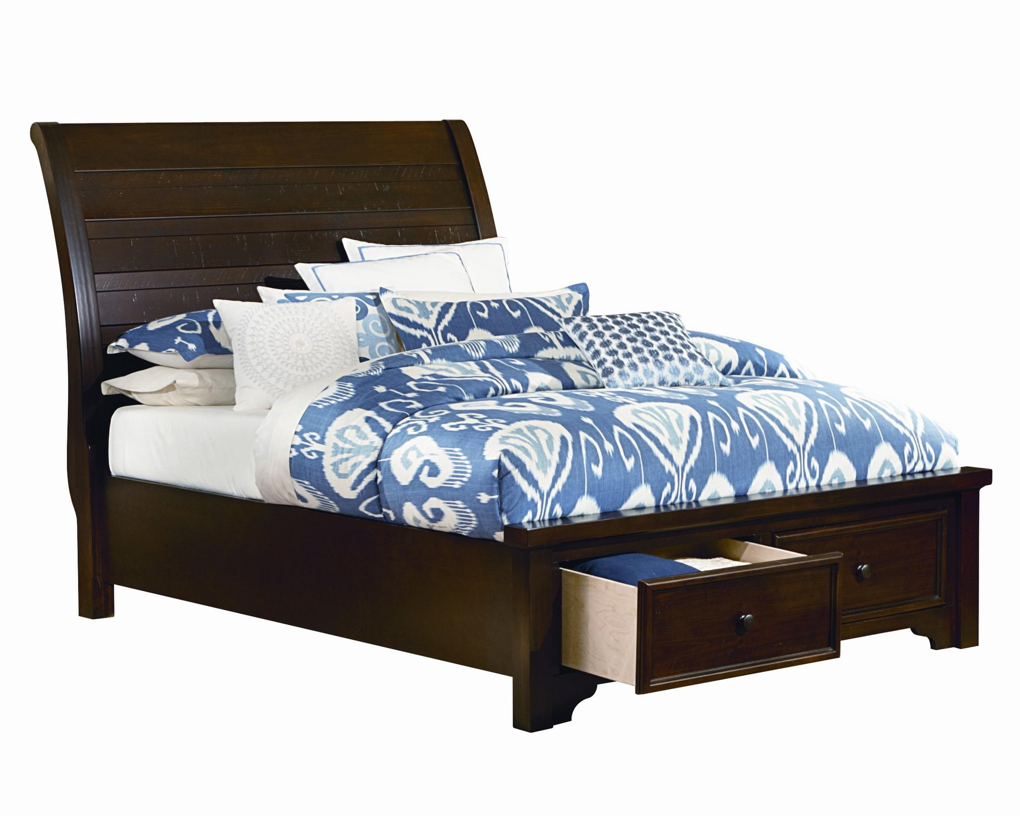 vaughan bassett hanover full sleigh storage bed w low. Black Bedroom Furniture Sets. Home Design Ideas