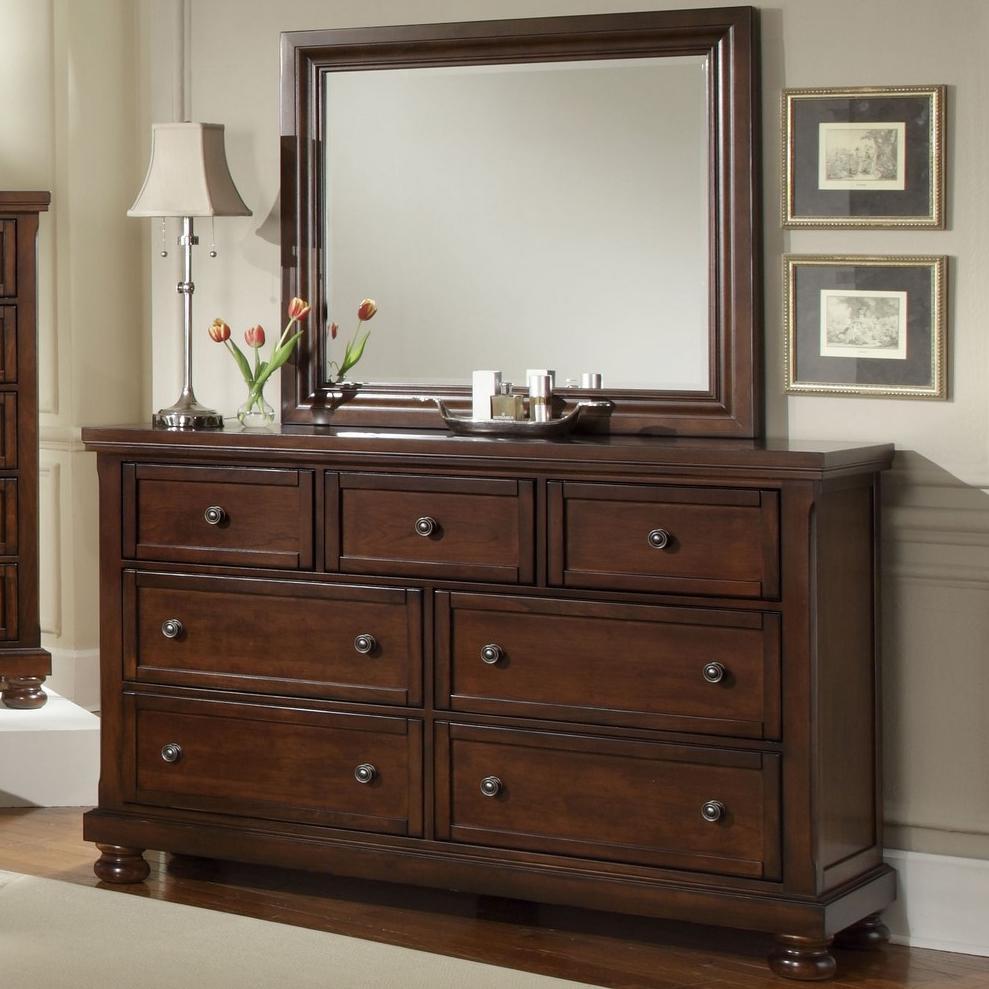 Vaughan Bassett Reflections 7 Drawer Dresser and Mirror