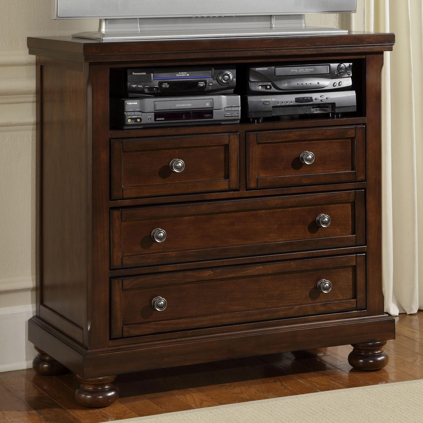 Vaughan Bassett Reflections 530 114 Entertainment Center Media Chest Great American Home Store