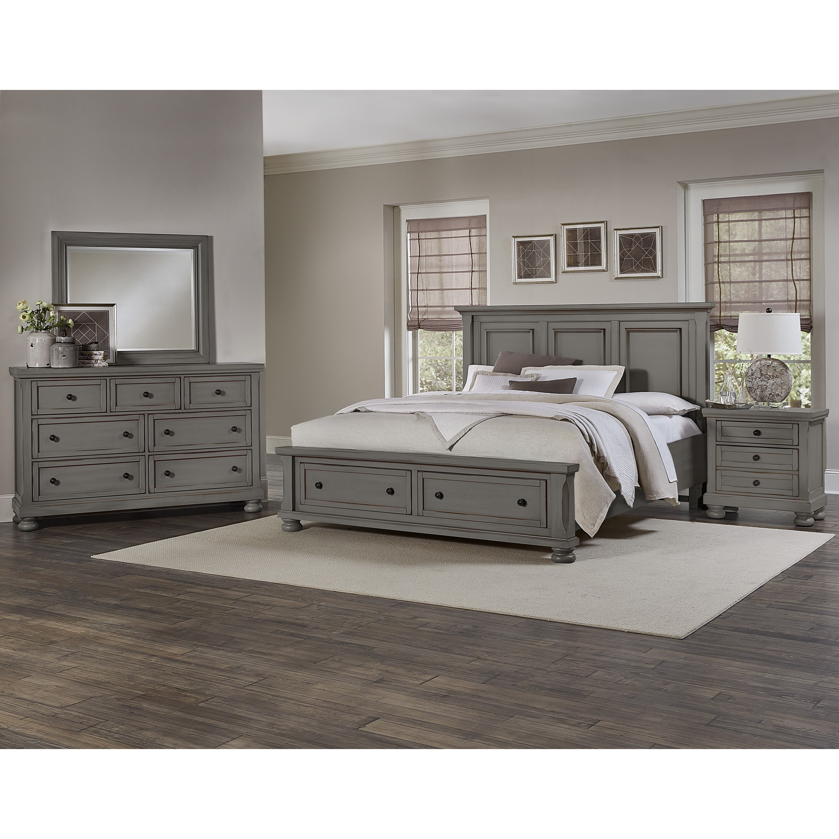 Vaughan bassett reflections king bedroom group olinde 39 s for Bedroom furniture groups