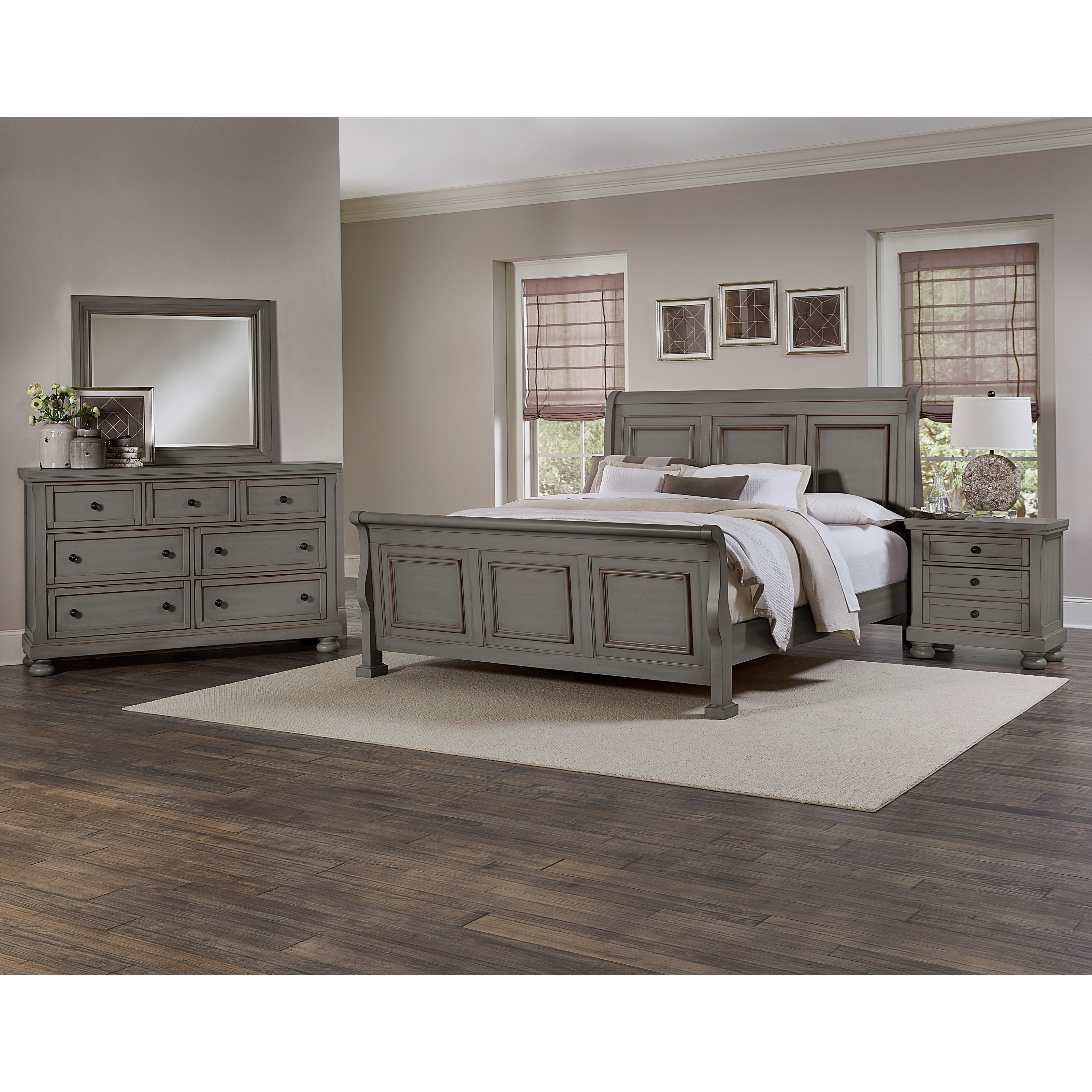 Vaughan bassett reflections king bedroom group dunk for Bedroom furniture groups